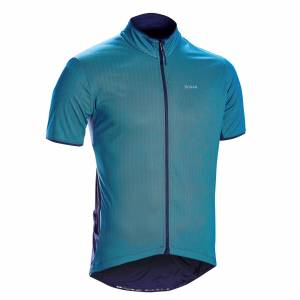 Triban MAILLOT MANCHES COURTES VELO ROUTE TRIBAN RC500 BLEU - Triban