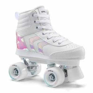 OXELO ROLLER QUAD 100 JR blanc holographic - OXELO - 35