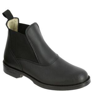 Fouganza Boots équitation adulte CLASSIC cuir noir - Fouganza - 38