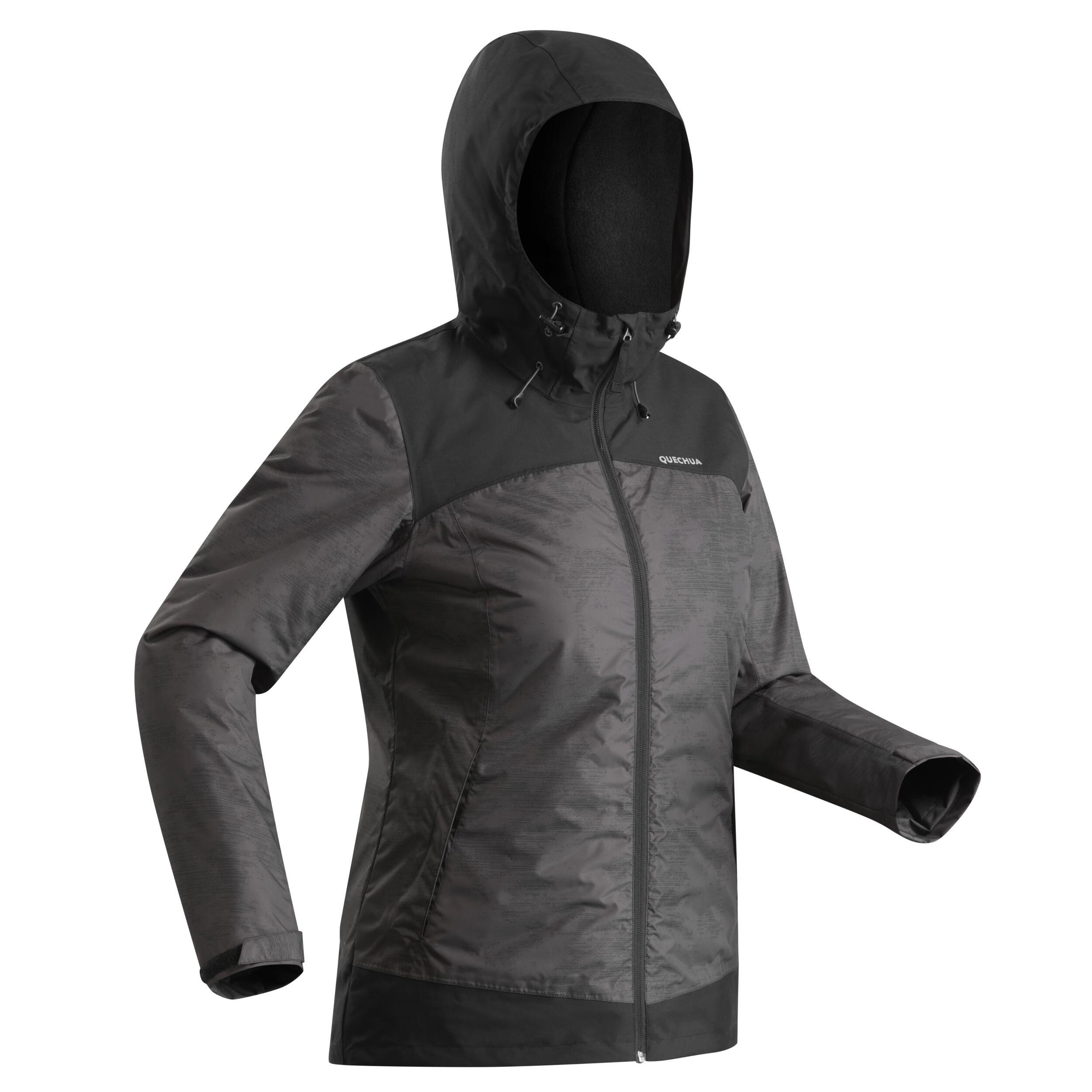 Quechua Veste chaude imperméable de randonnée neige femme SH100 x-warm noir - Quechua