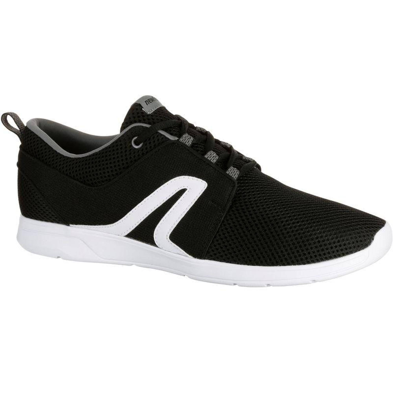 Newfeel Chaussures marche sportive homme Soft 140 Mesh noir / blanc - Newfeel