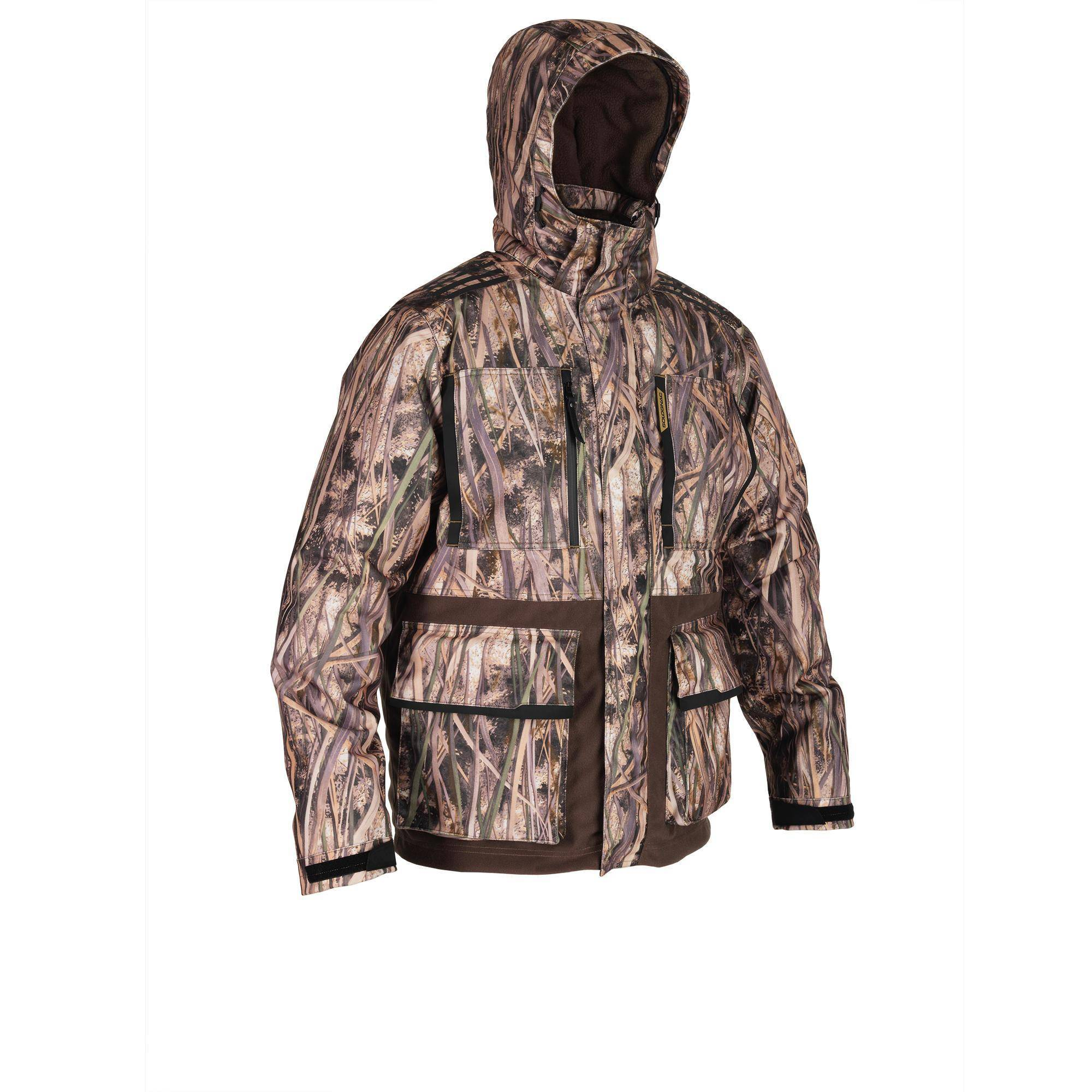 Solognac Veste chasse chaude et imperméable 500 camouflage marais - Solognac