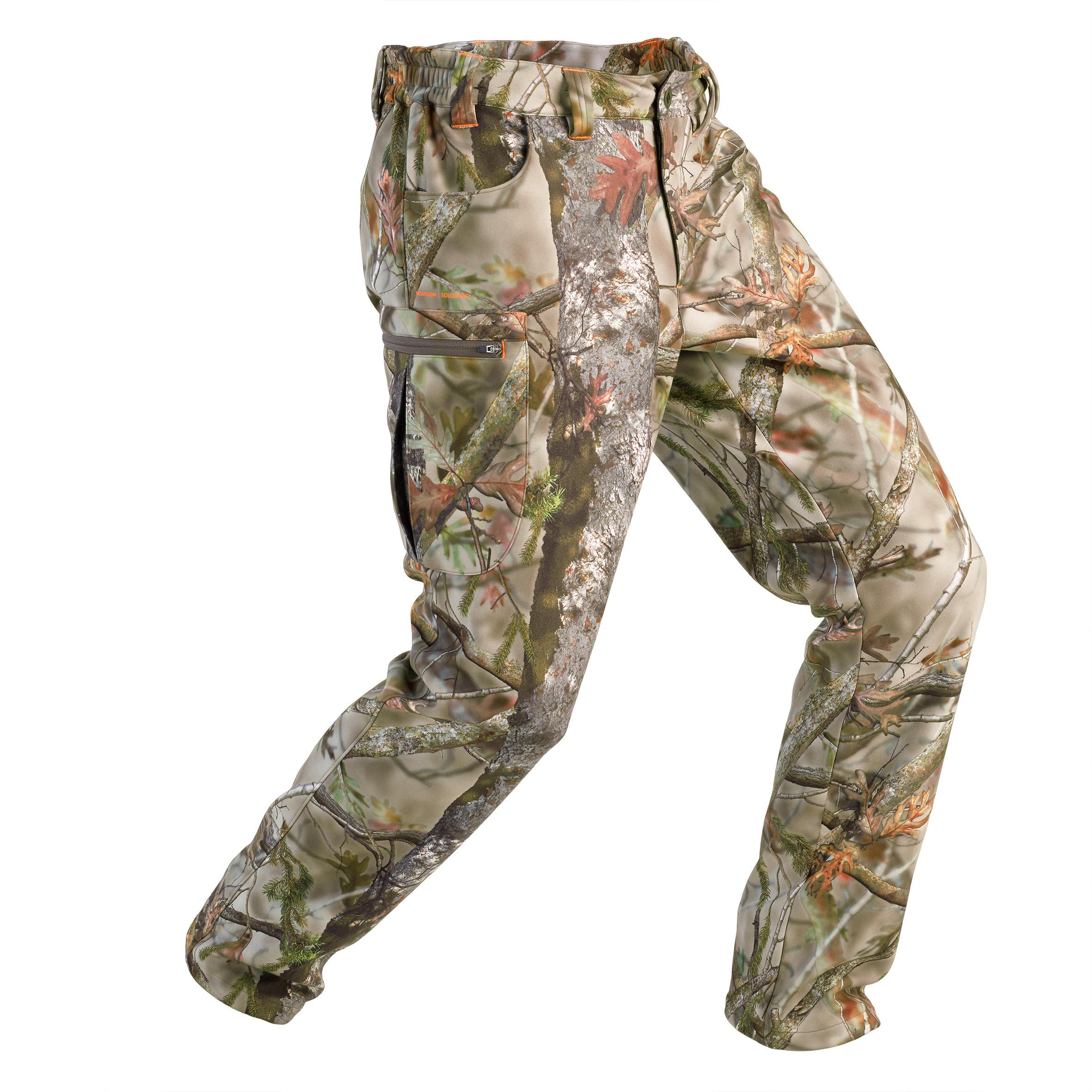 Solognac Pantalon Chasse Polaire 100 camouflage foret - Solognac