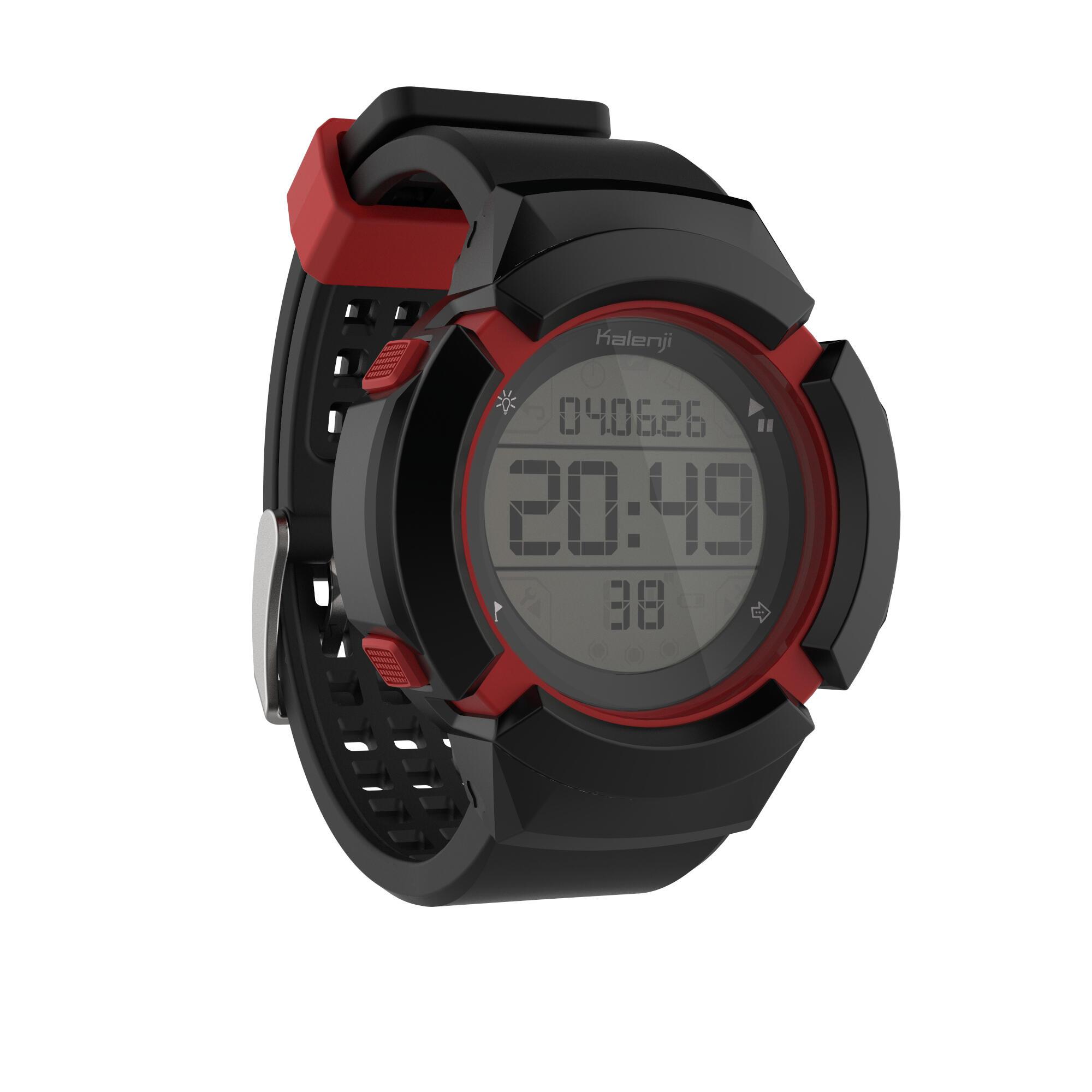 Kiprun Montre chronomètre de course à pied homme W700xc M NOIRE et ROUGE - Kiprun