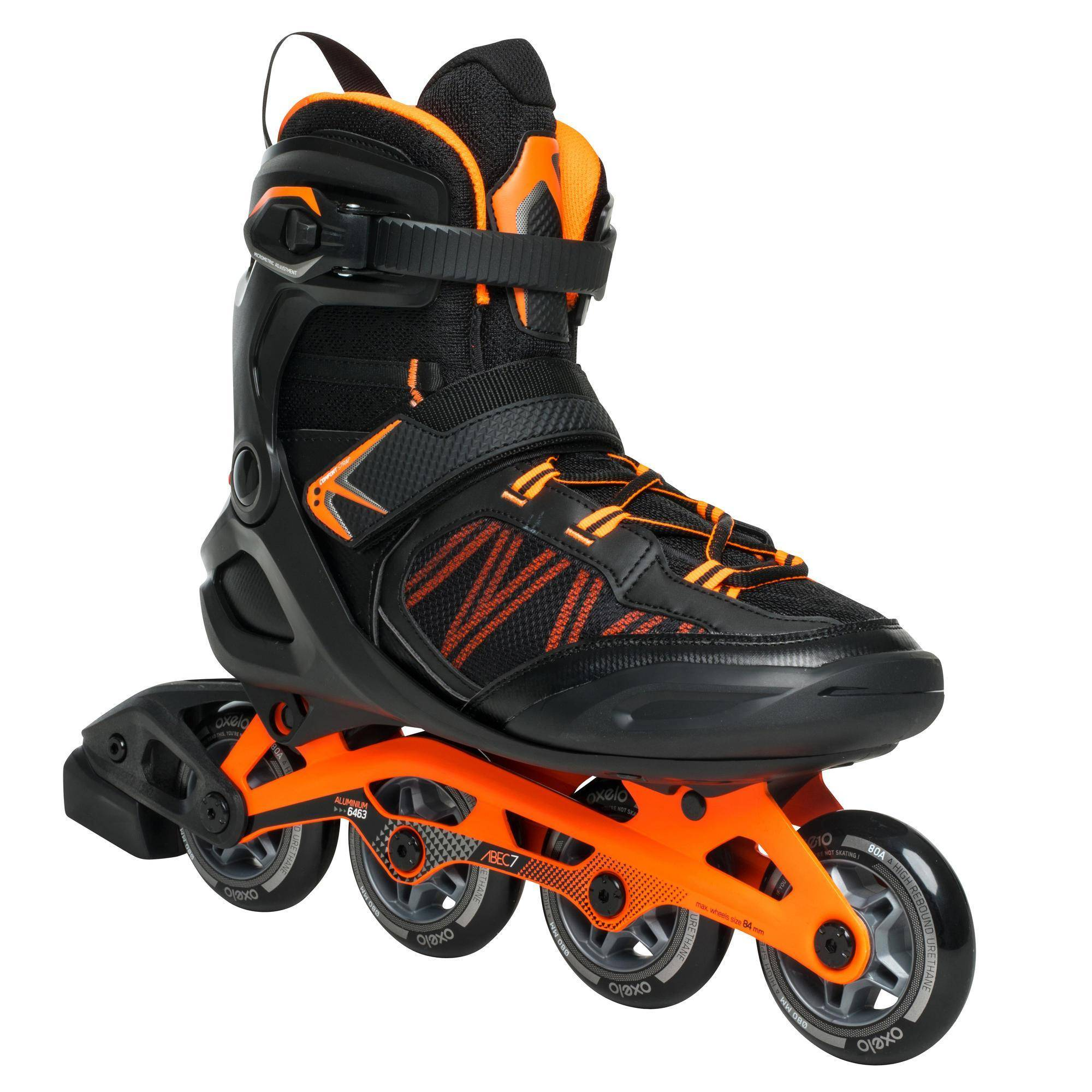 Oxelo Roller fitness homme FIT500 acid orange - Oxelo