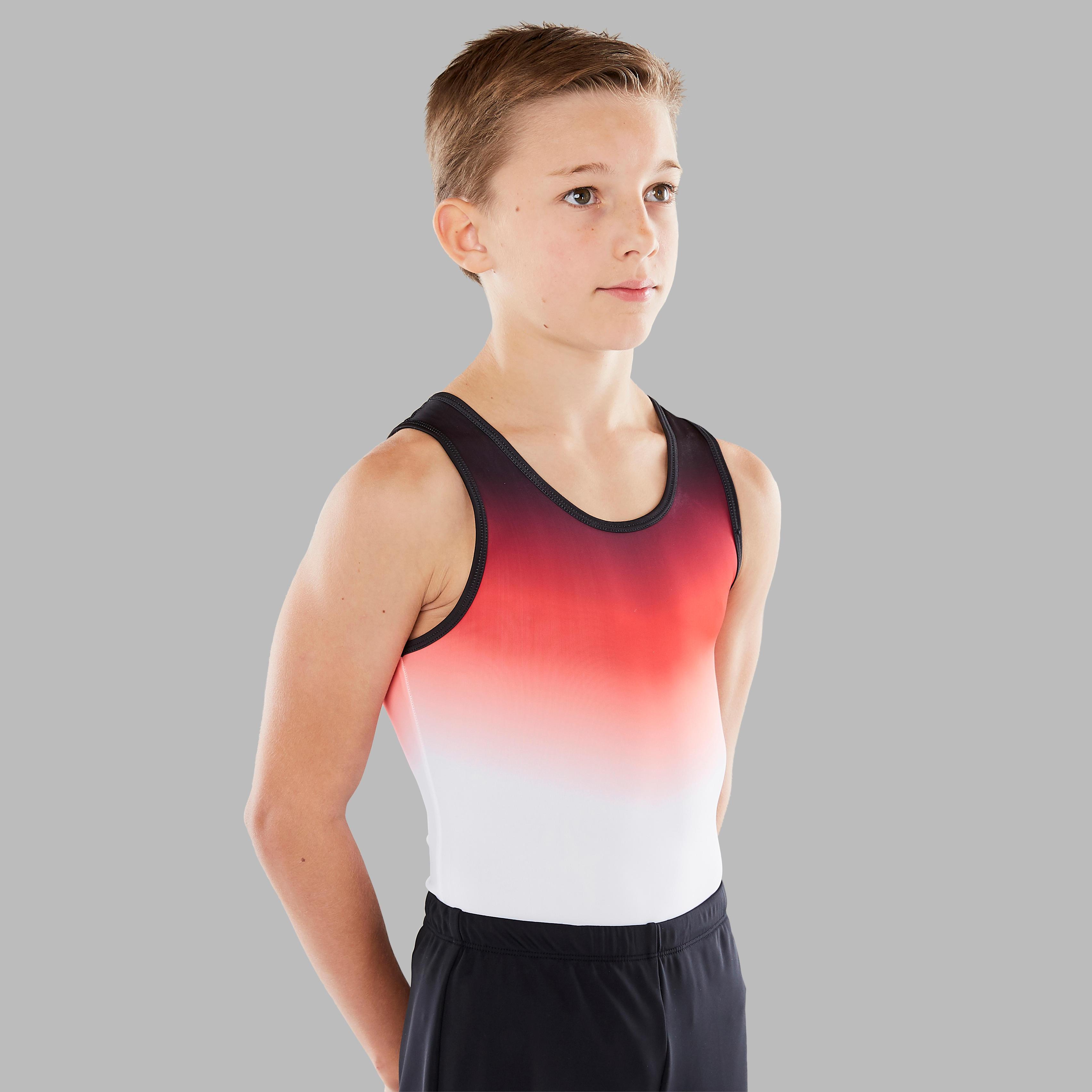 Domyos Leotard Gymnastique Artistique Masculine (GAM) Garçon Homme Rouge - Domyos