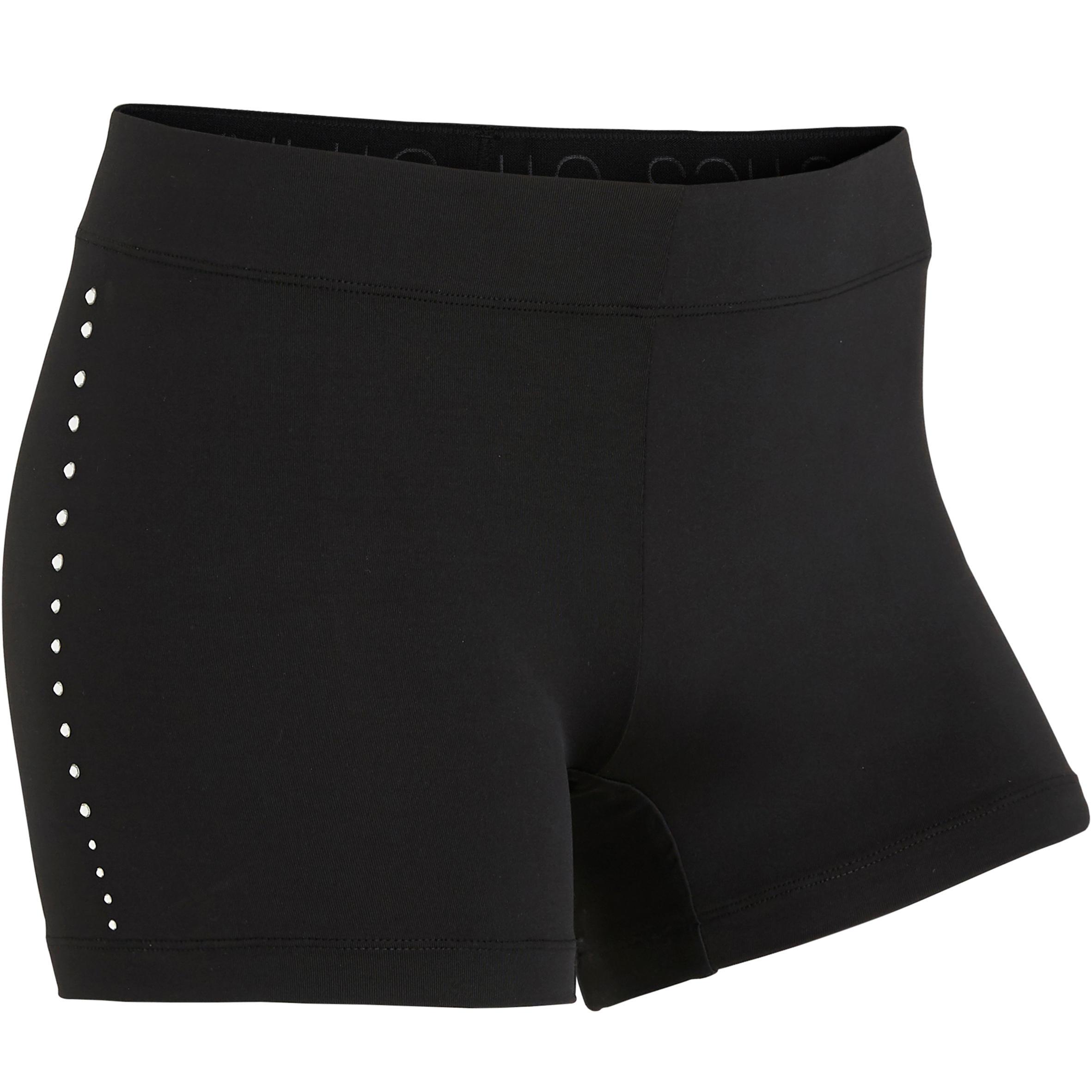 Domyos Short noir strass 900 Gymnastique Artistique Féminine - Domyos