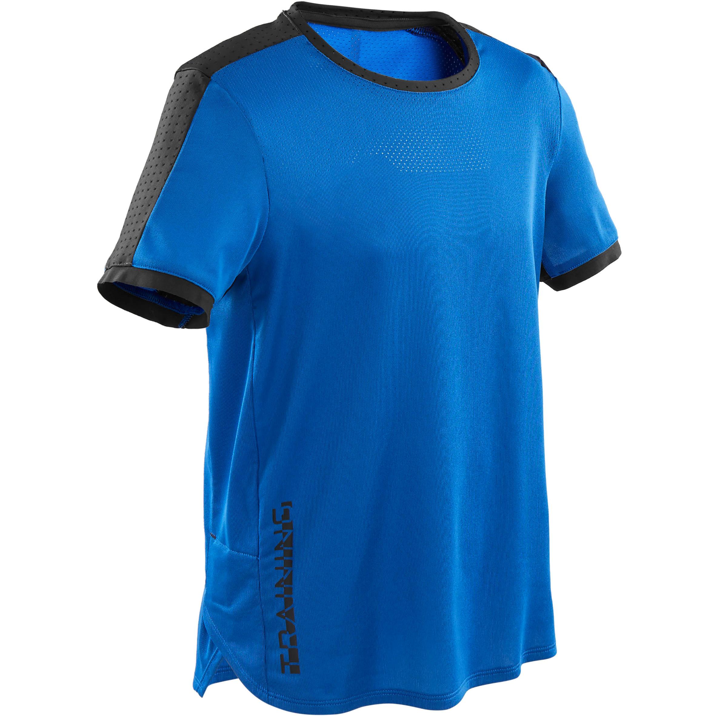 Domyos T-shirt respirant et technique, S900 garçon GYM ENFANT bleu - Domyos