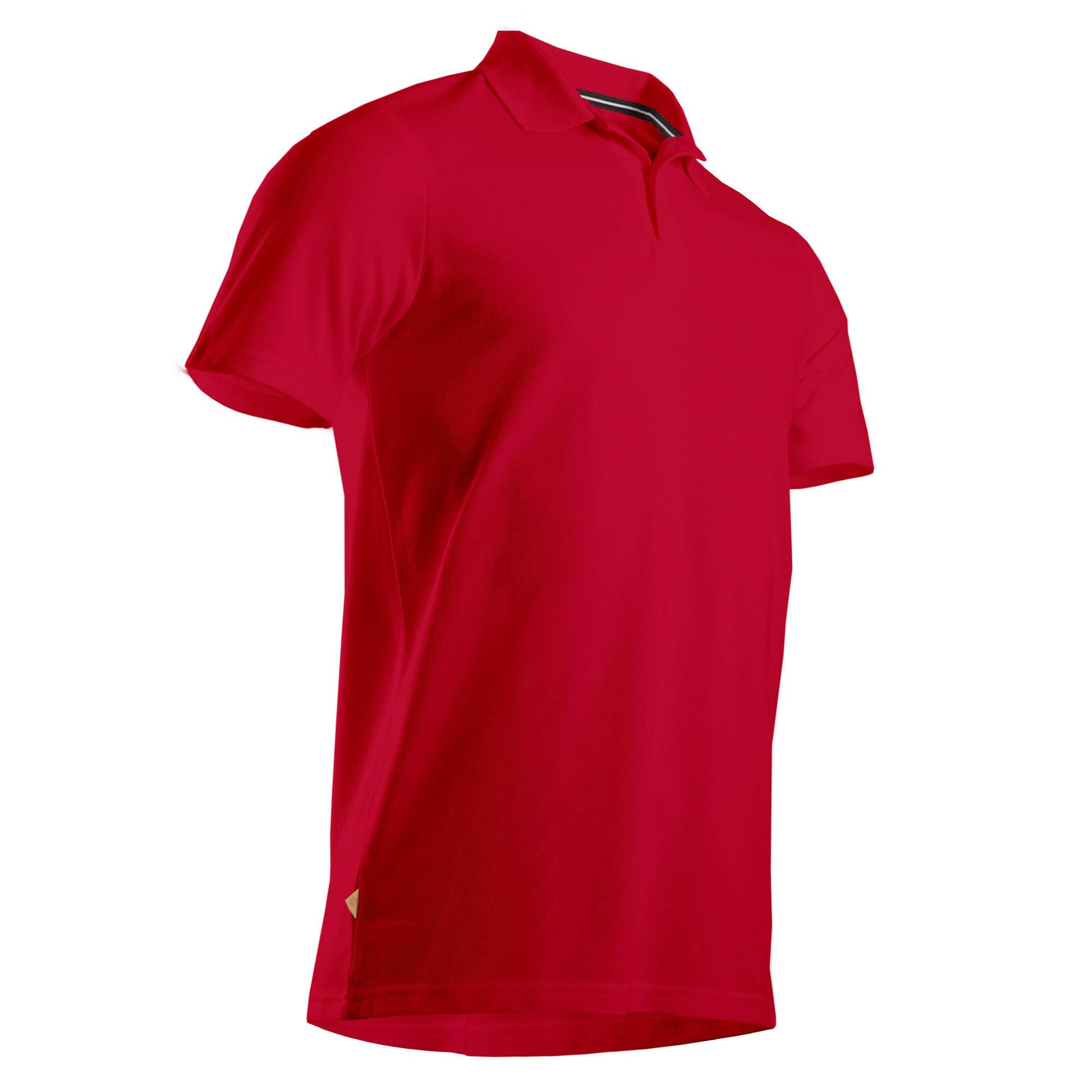 Inesis POLO DE GOLF HOMME MANCHES COURTES ROUGE - Inesis