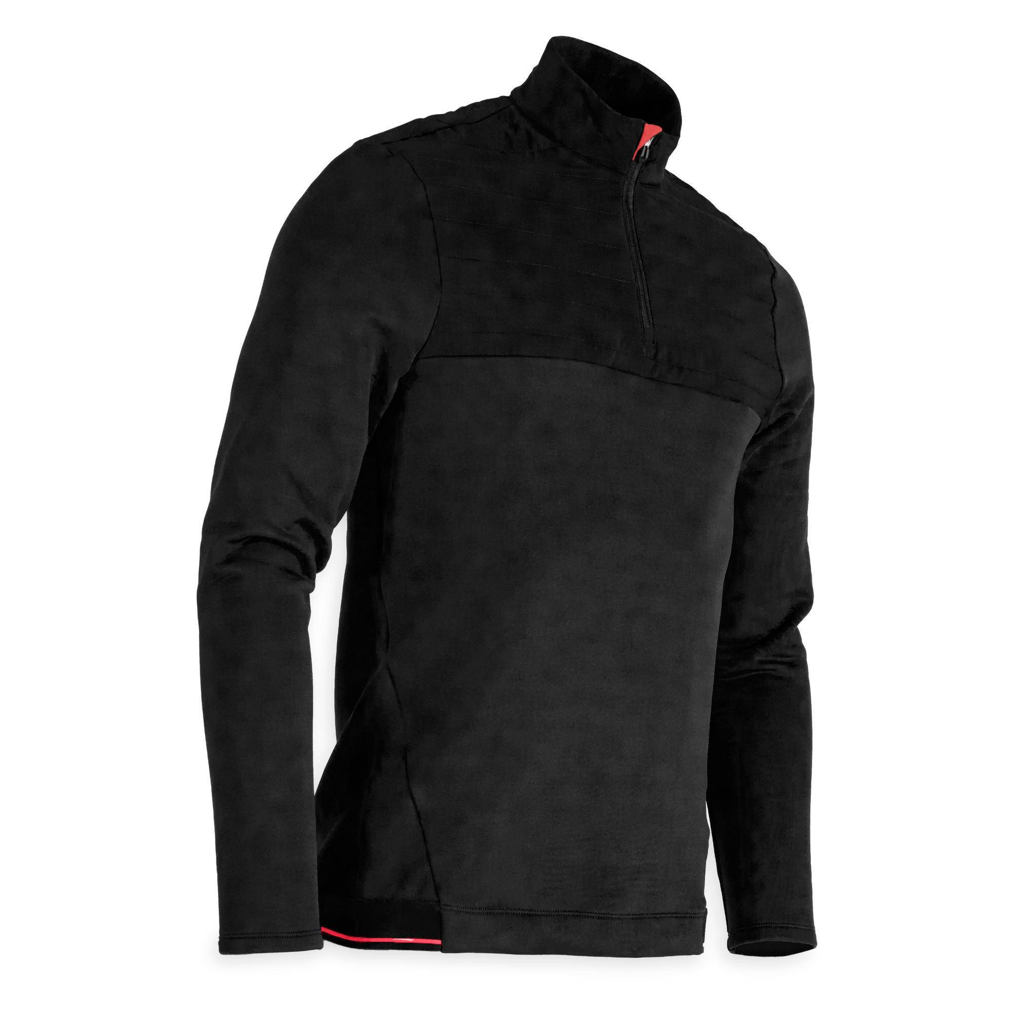 Inesis SWEAT POLAIRE GOLF HOMME TEMPS FROID NOIR - Inesis