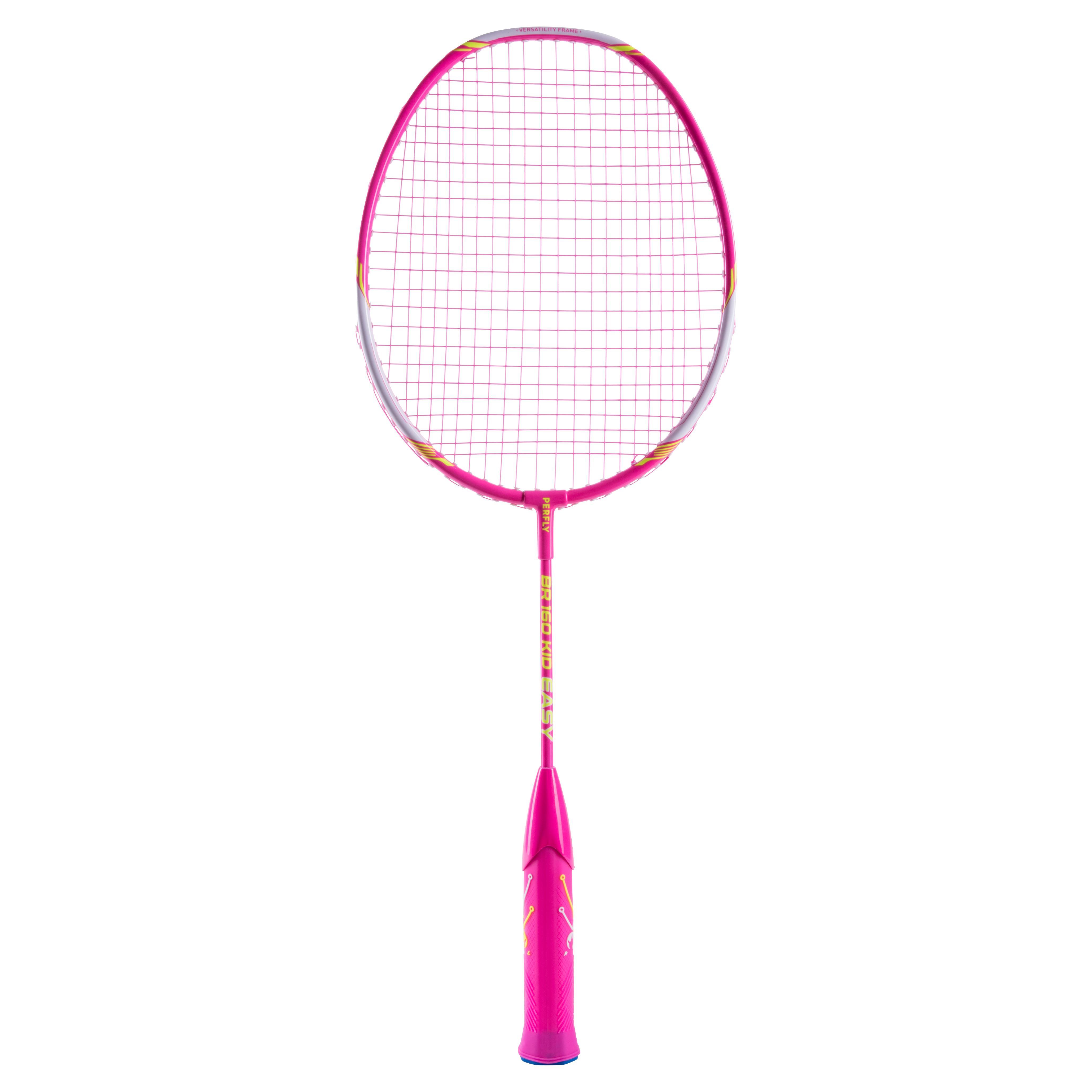 Perfly Raquette De Badminton Enfant BR 160 Easy Grip - Rose - Perfly