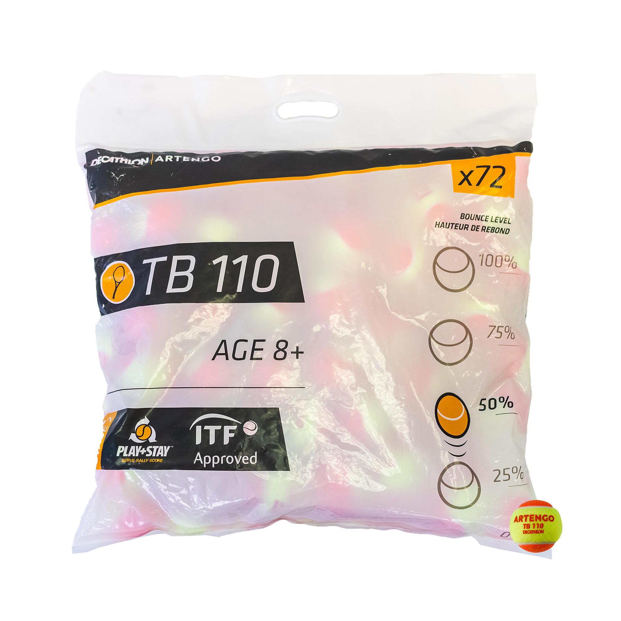 Artengo BALLE DE TENNIS TB110*72 ORANGE - Artengo