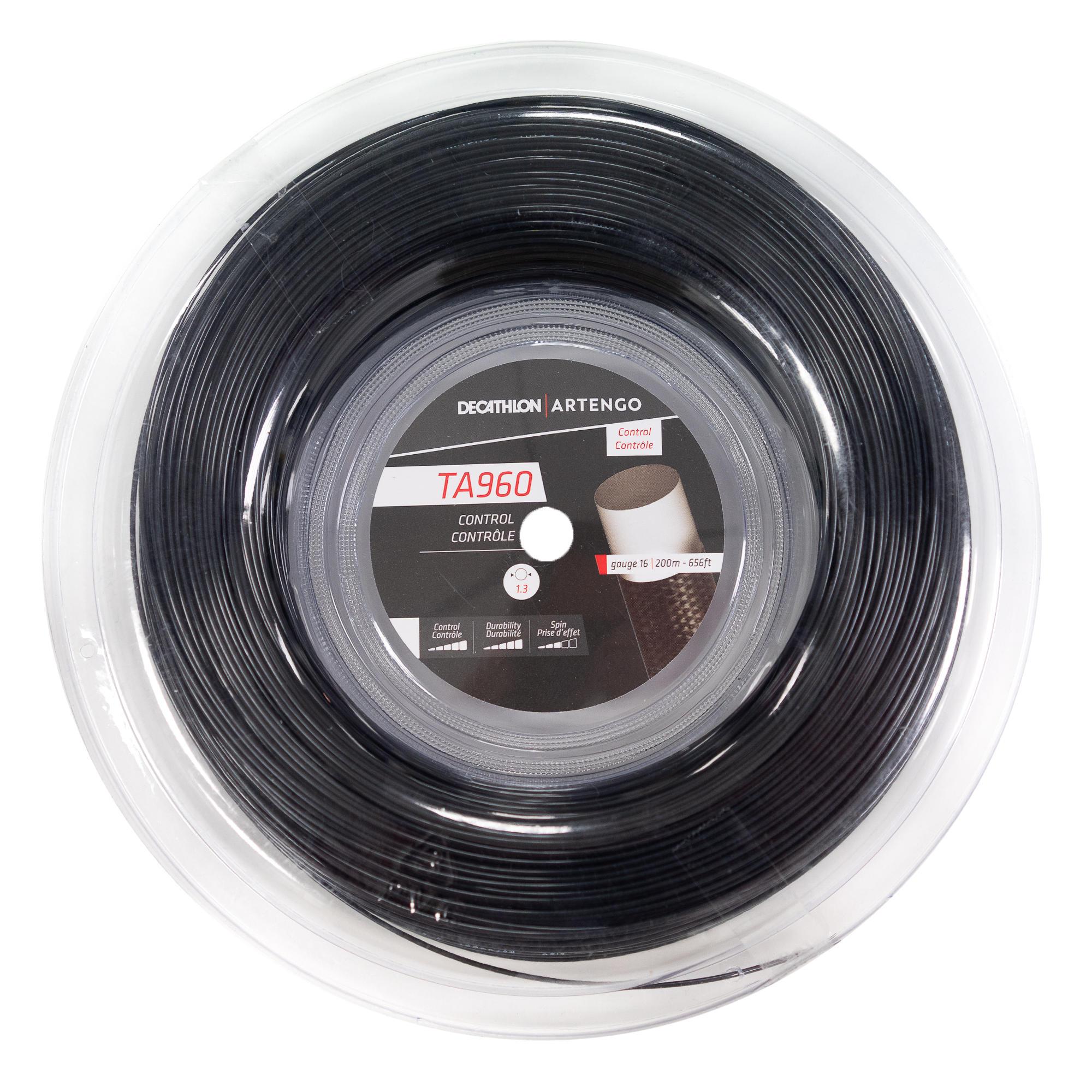 Artengo BOBINE DE CORDAGE DE TENNIS MONOFILAMENT TA 960 Control 1.3 mm NOIR. - Artengo