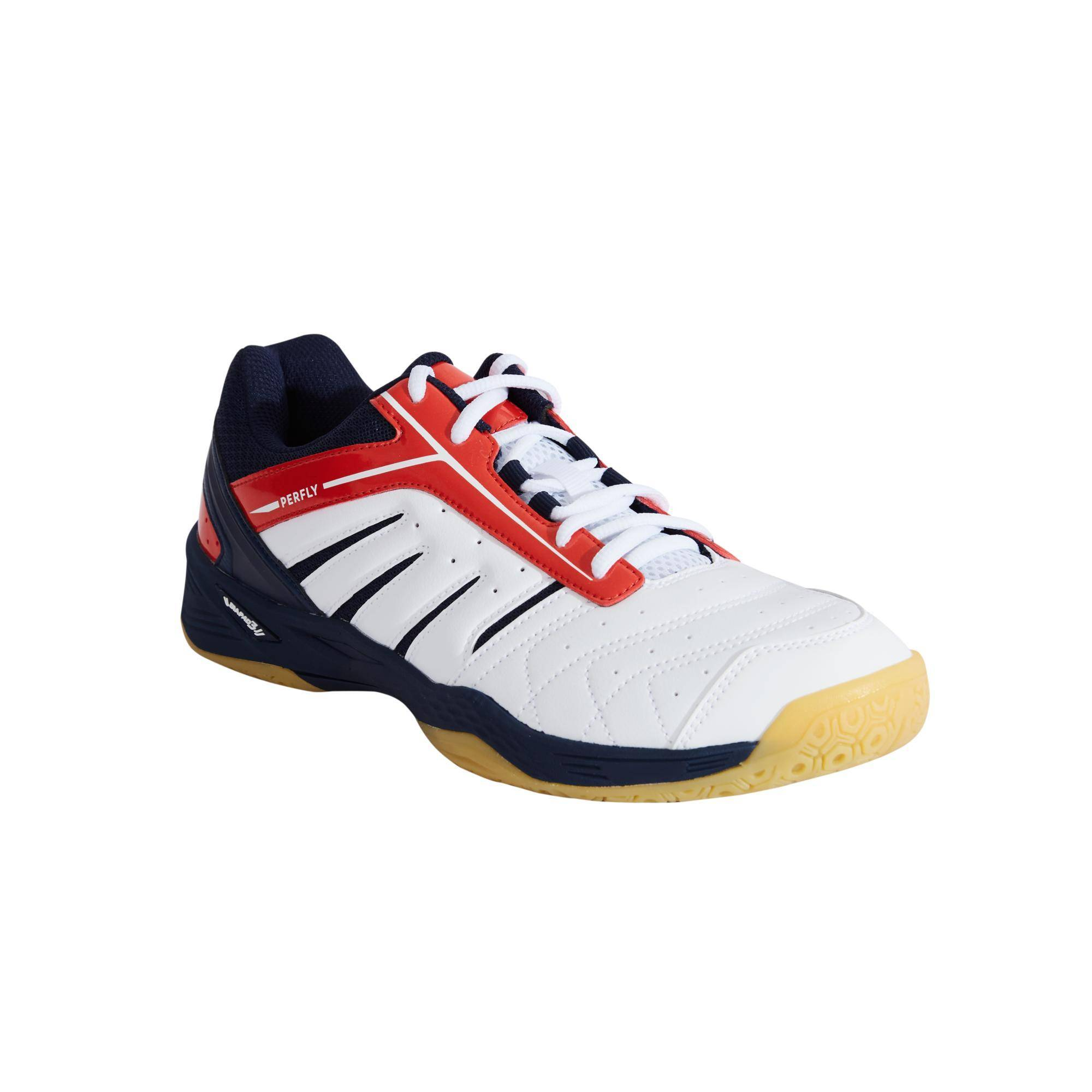 Perfly Chaussures De Badminton pour Homme BS560 Lite - Blanc/Rouge - Perfly
