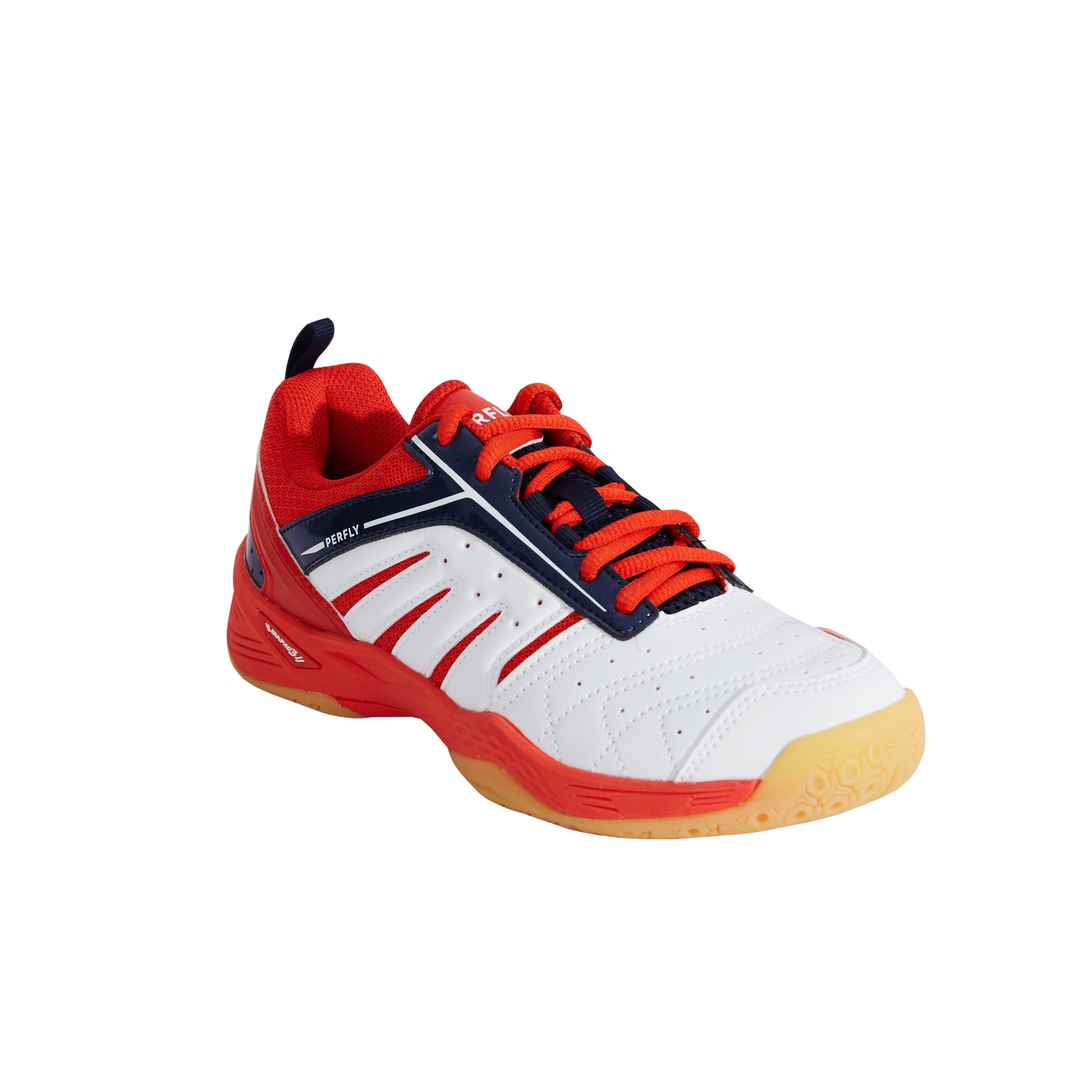 Perfly Chaussures De Badminton Junior BS 560 Lite - Blanc/Rouge - Perfly