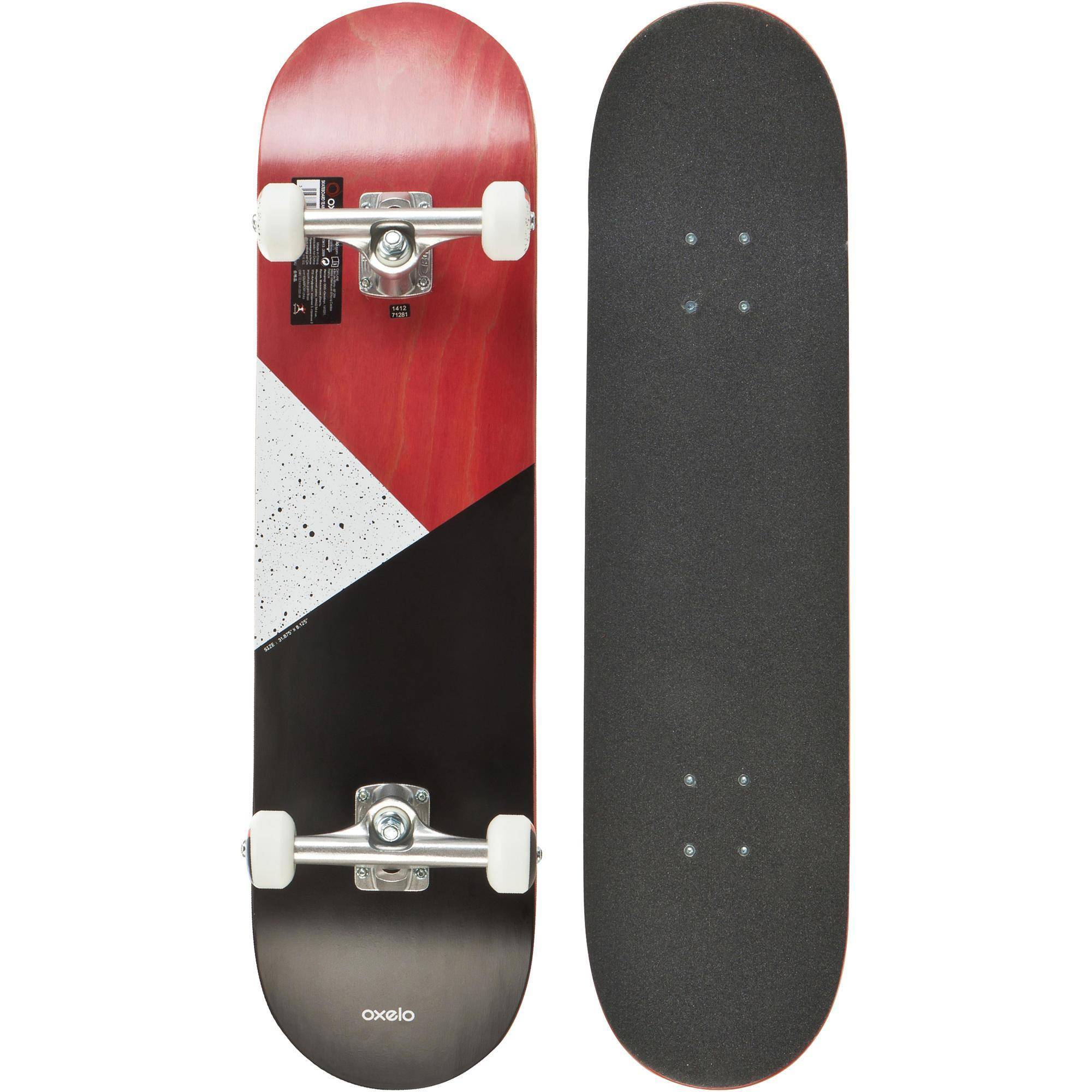 Oxelo SKATEBOARD COMPLETE 100 GALAXY ROUGE - Oxelo