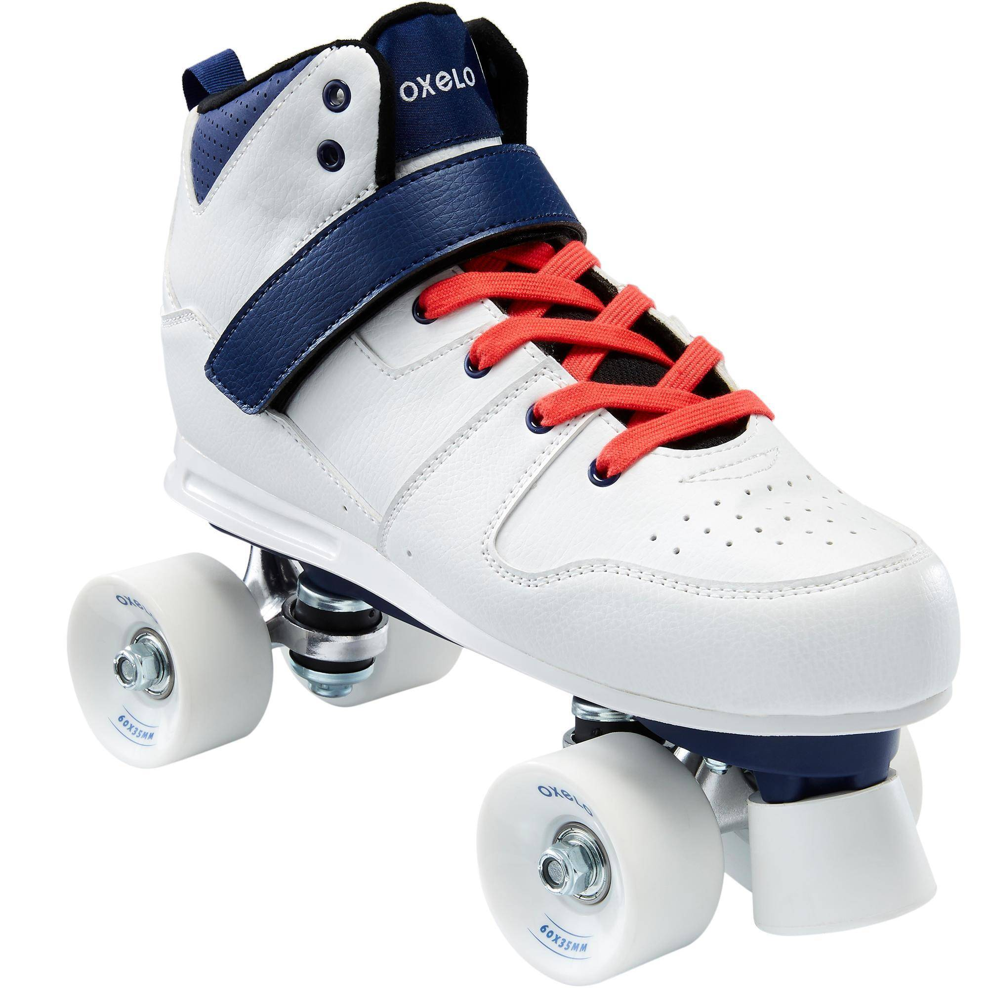 Oxelo Roller Quad 100 Adulte Blanc - Oxelo