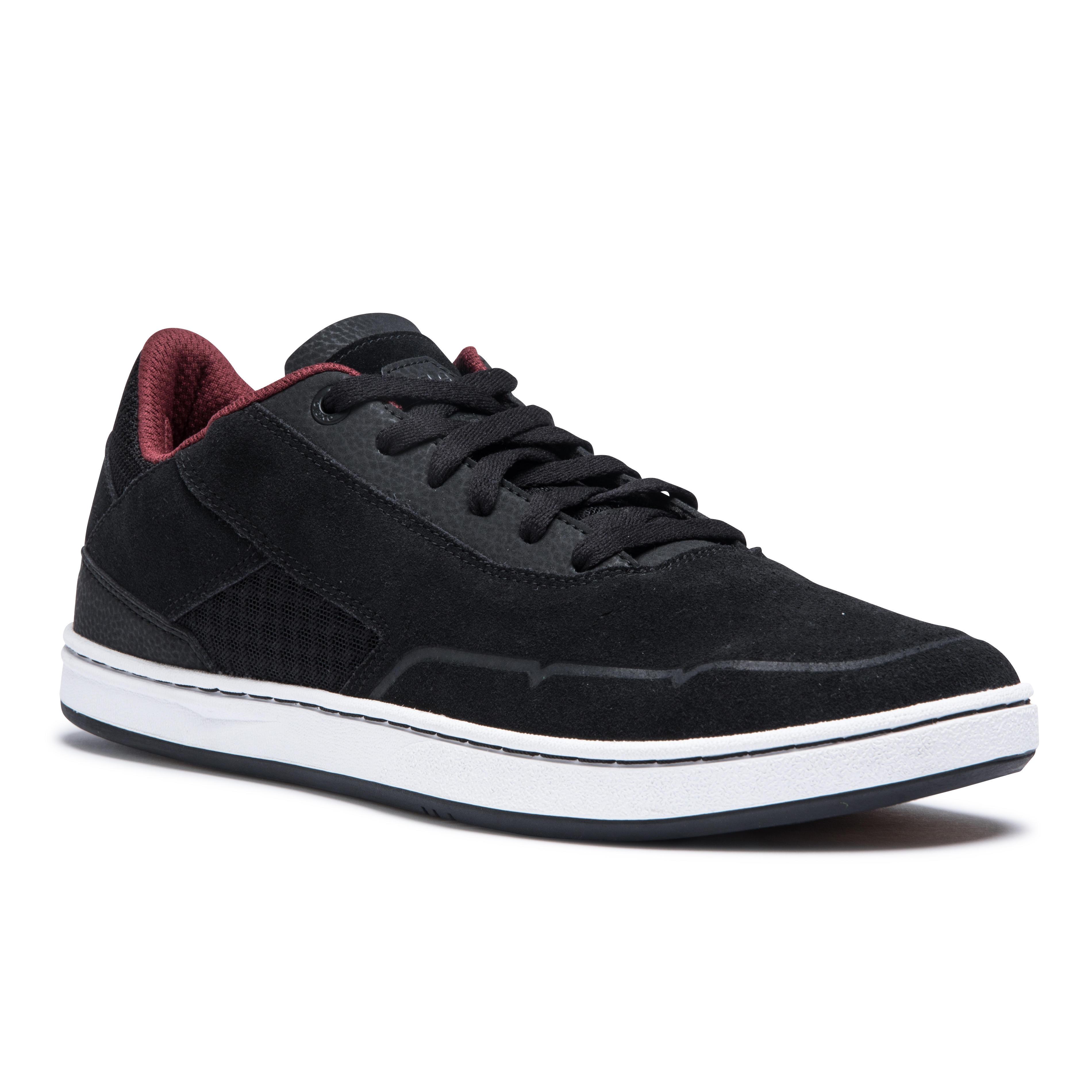 Oxelo Chaussures basses (cupsoles) de skateboard adulte CRUSH 500 noire / bordeaux - Oxelo