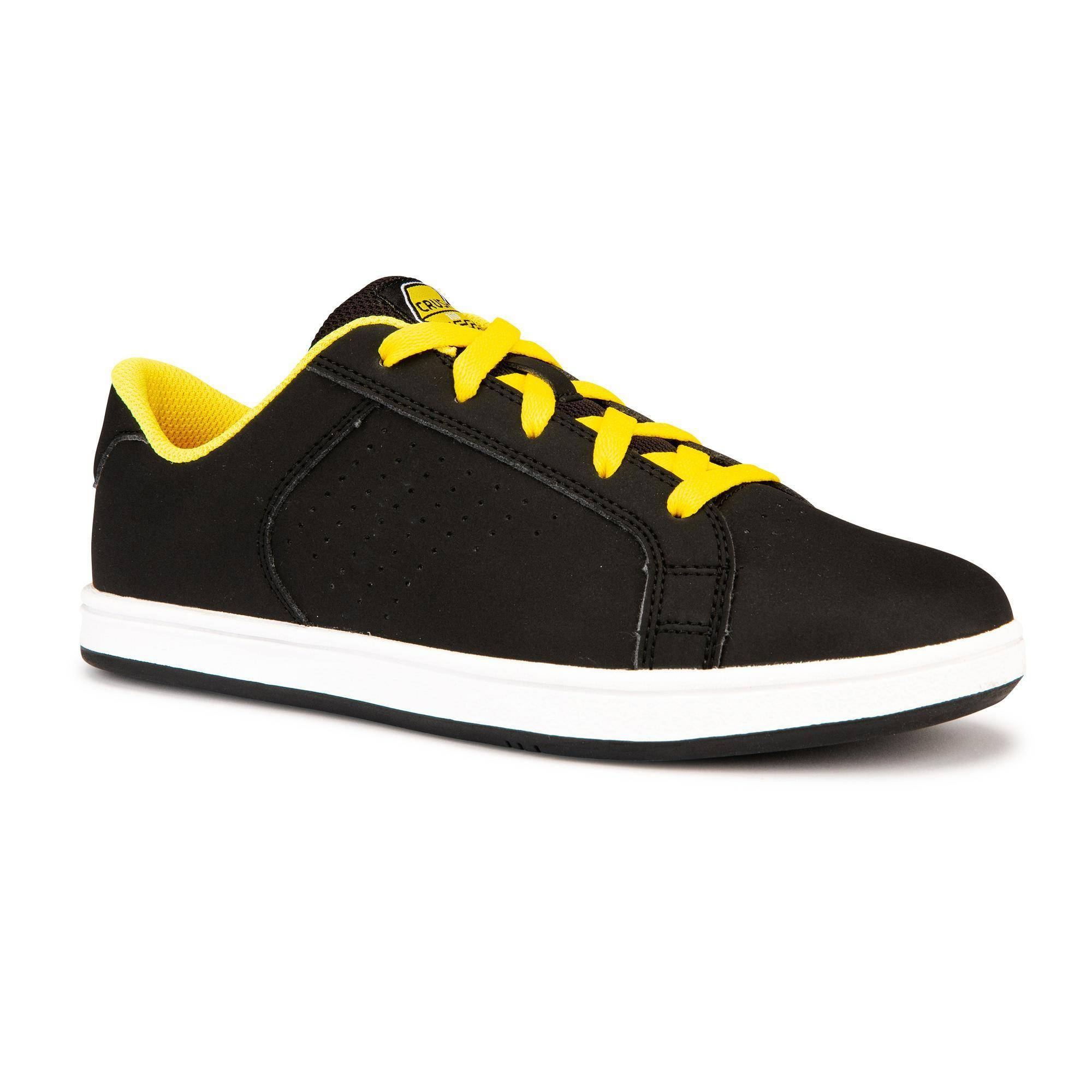 Oxelo Chaussure de skate pour enfant CRUSH 100 Noire Jaune - Oxelo