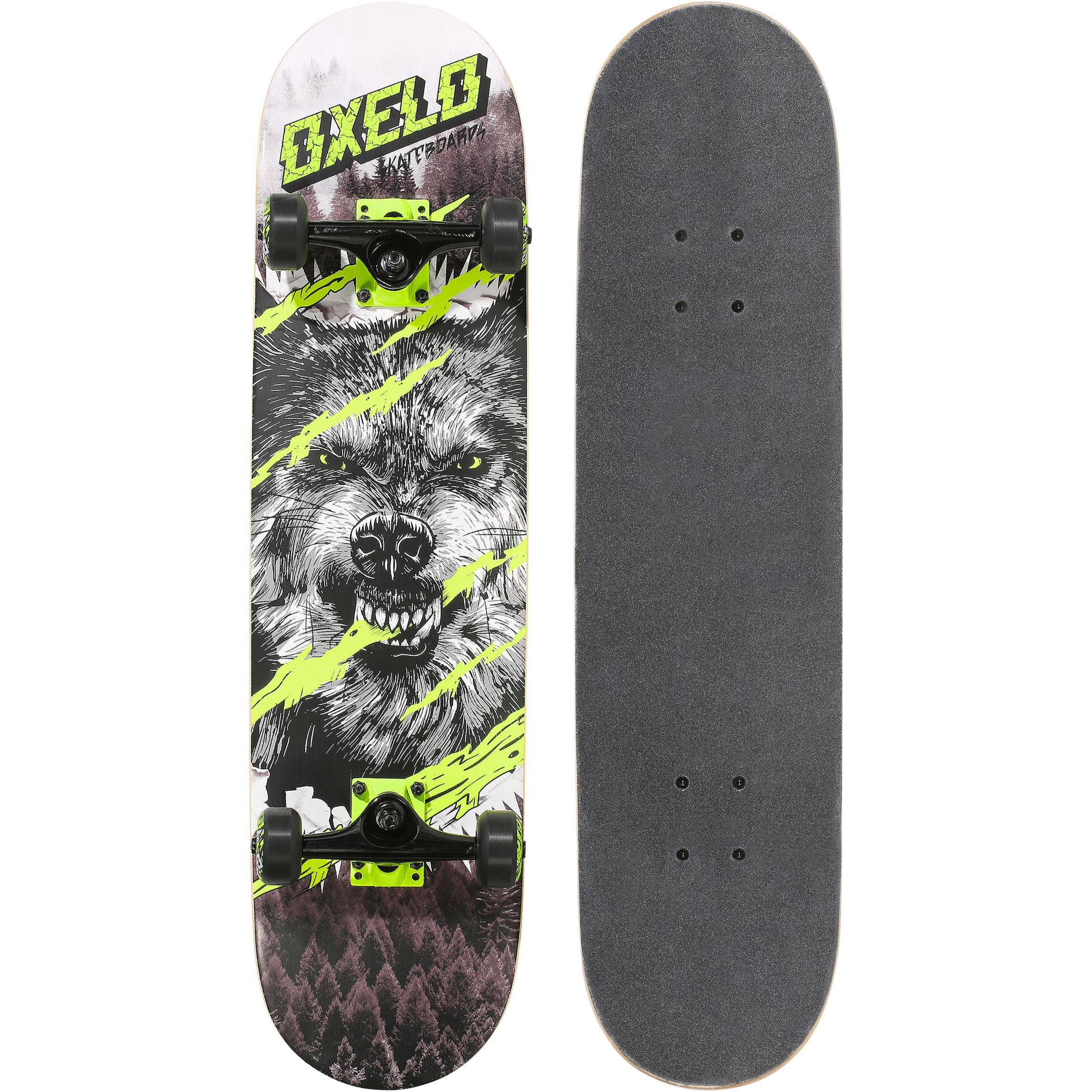 Oxelo SKATE ENFANT MID500 WOLF VERT 8 A 12 ANS - Oxelo