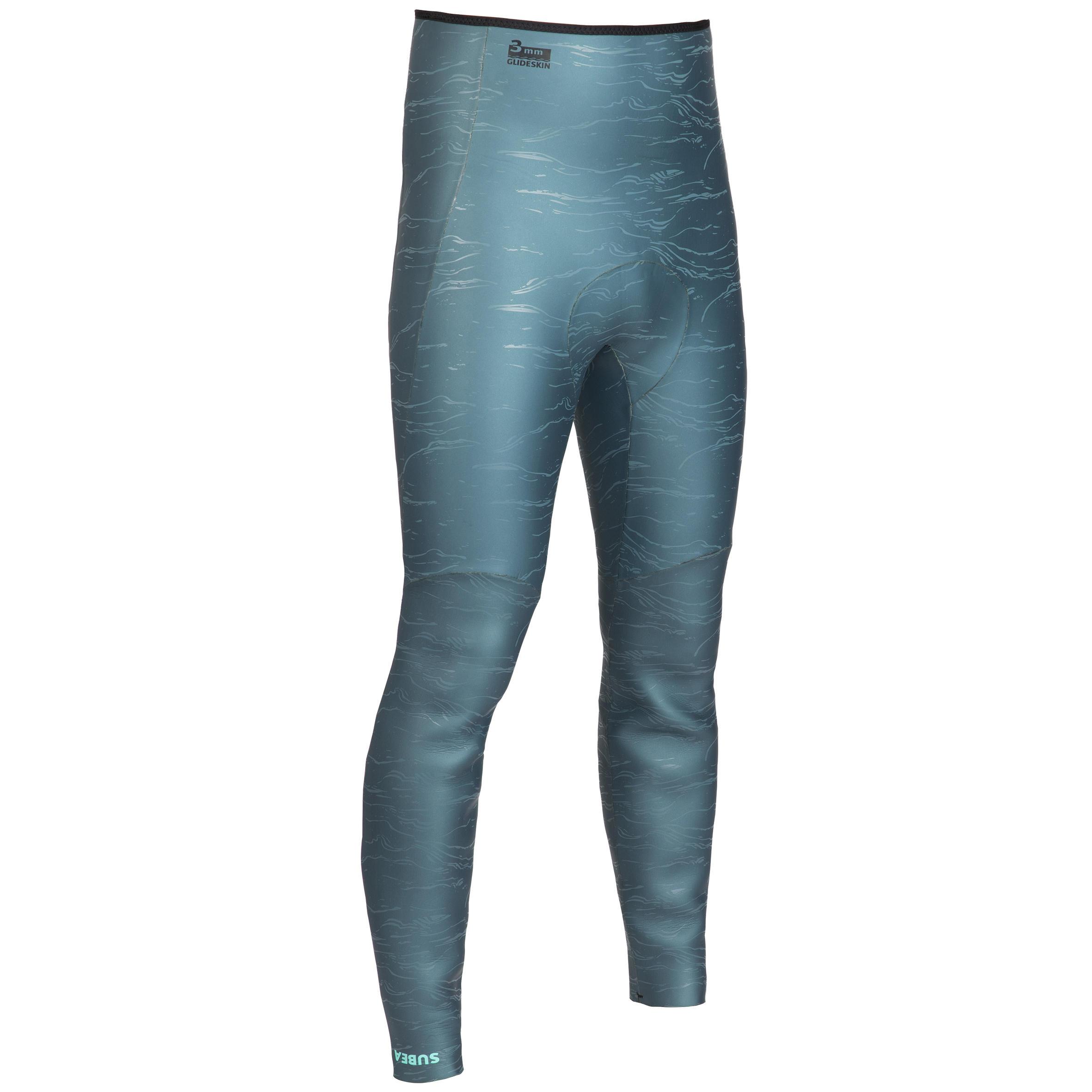 Subea Pantalon de combinaison d'apnée freediving néoprène 3mm FRD900 gris vert - Subea