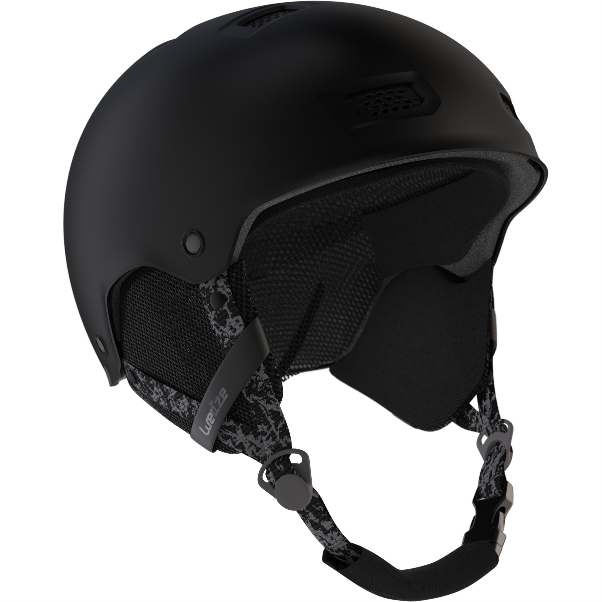 Wedze Casque de snowboard (et de ski) adulte et junior H-FS 300 noir - Wedze