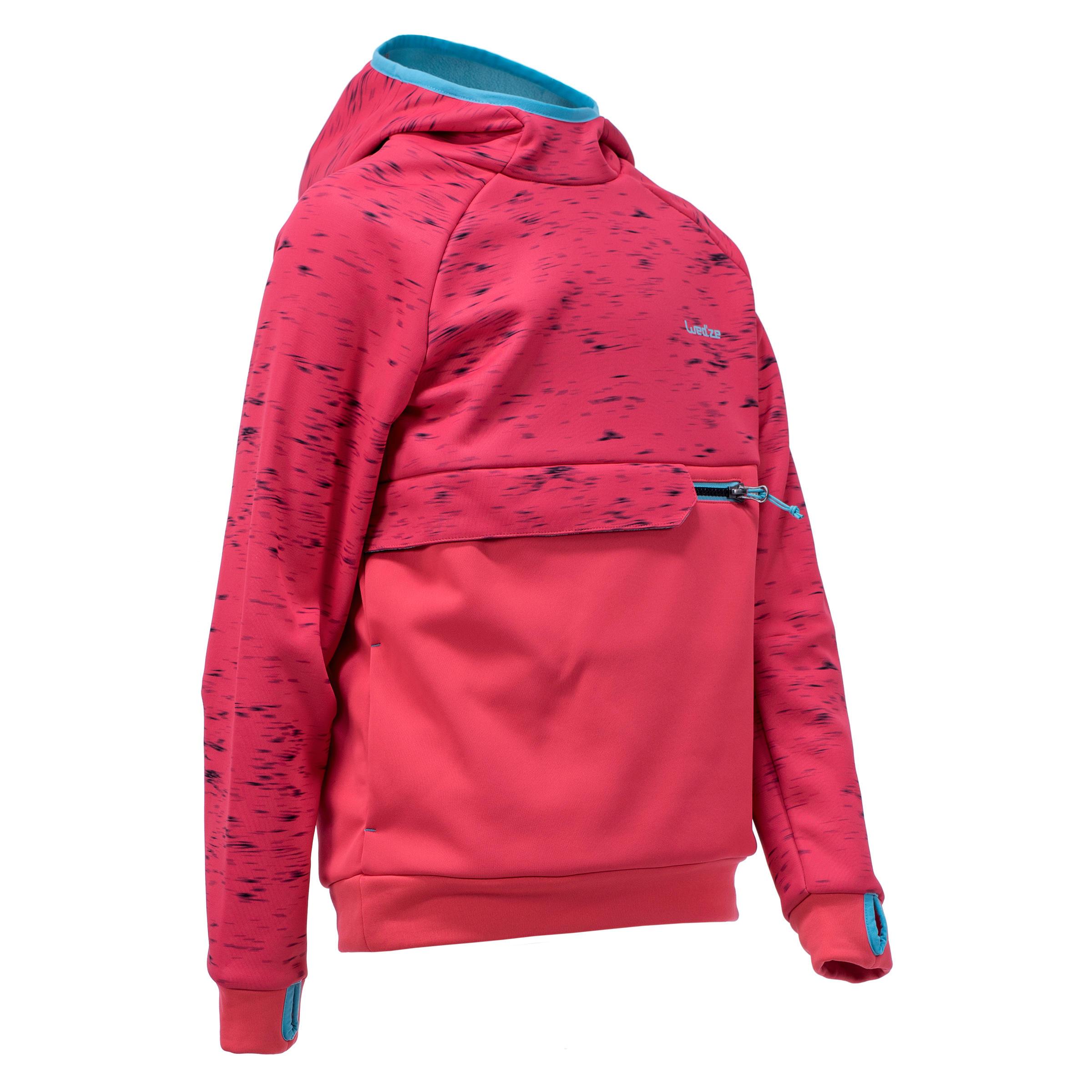 Wedze Sweatshirt de snowboard et de ski SNB HDY fille rose fraise - Wedze