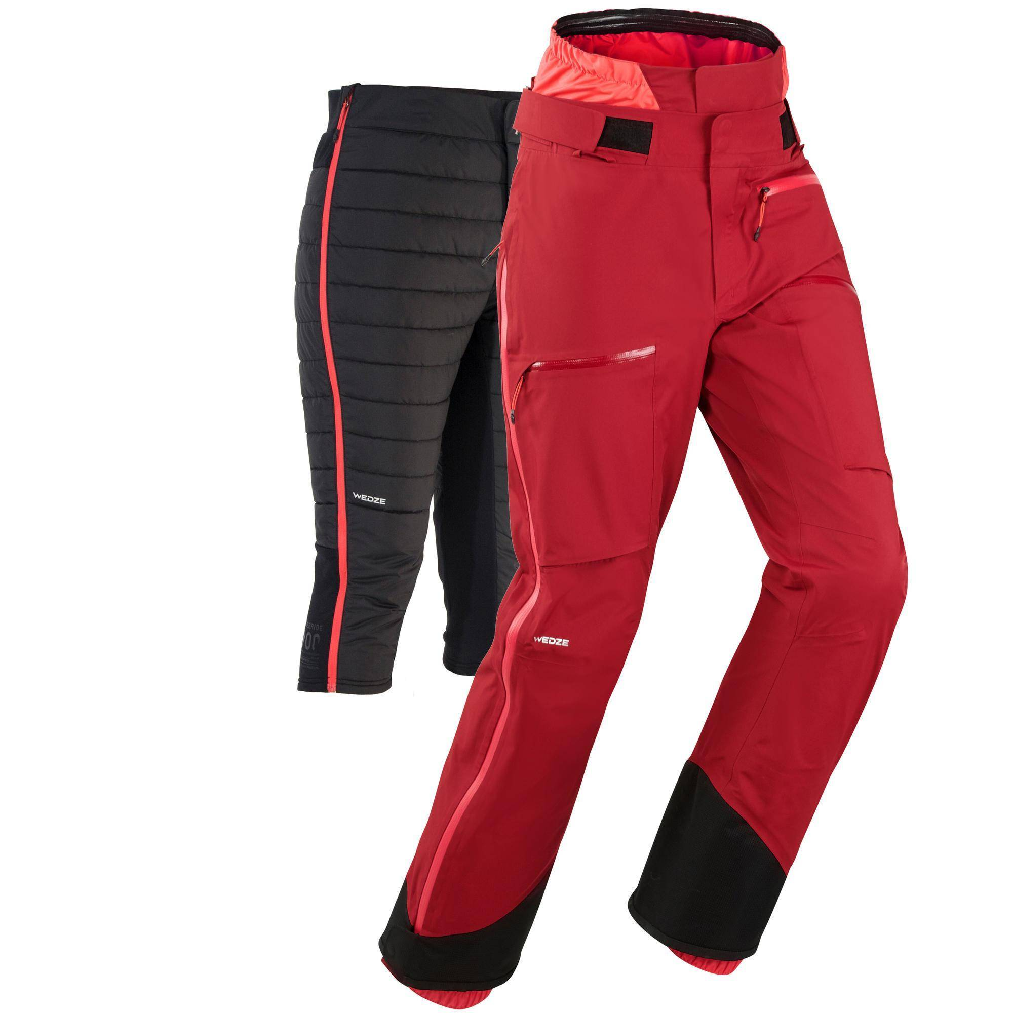 Wedze Pantalon de ski freeride femme FR900 bordeaux - Wedze