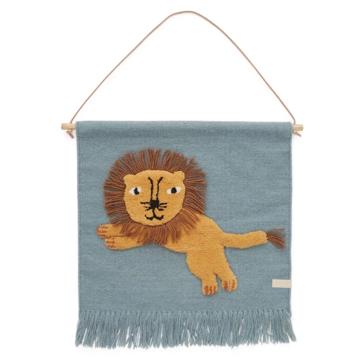 OYOY Tapis Mural Jumping Lion