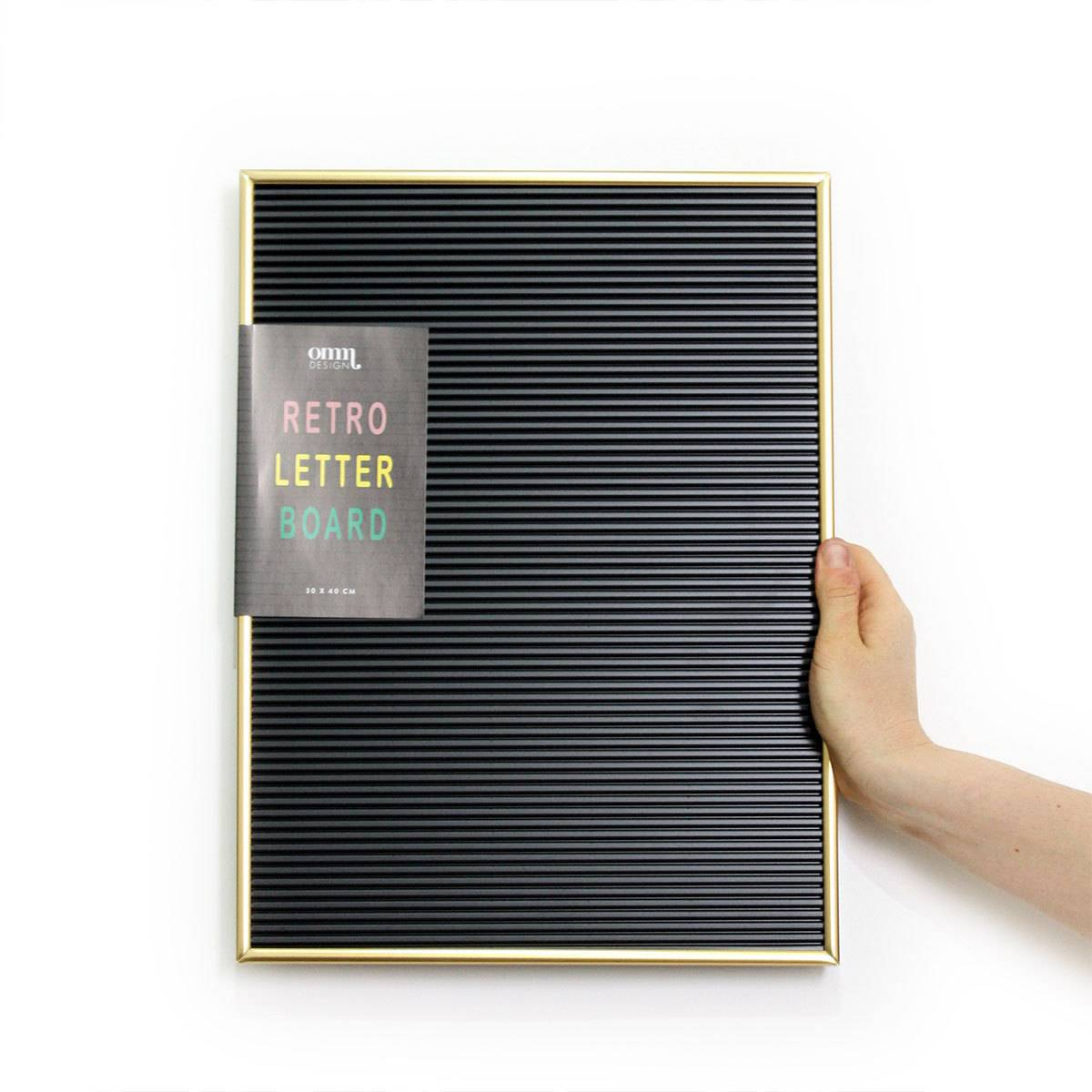Omm Design Tableau à Messages - Noir avec Cadre Doré
