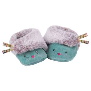 Moulin Roty Chaussons Chat Bleu Les Pachats - 16/17