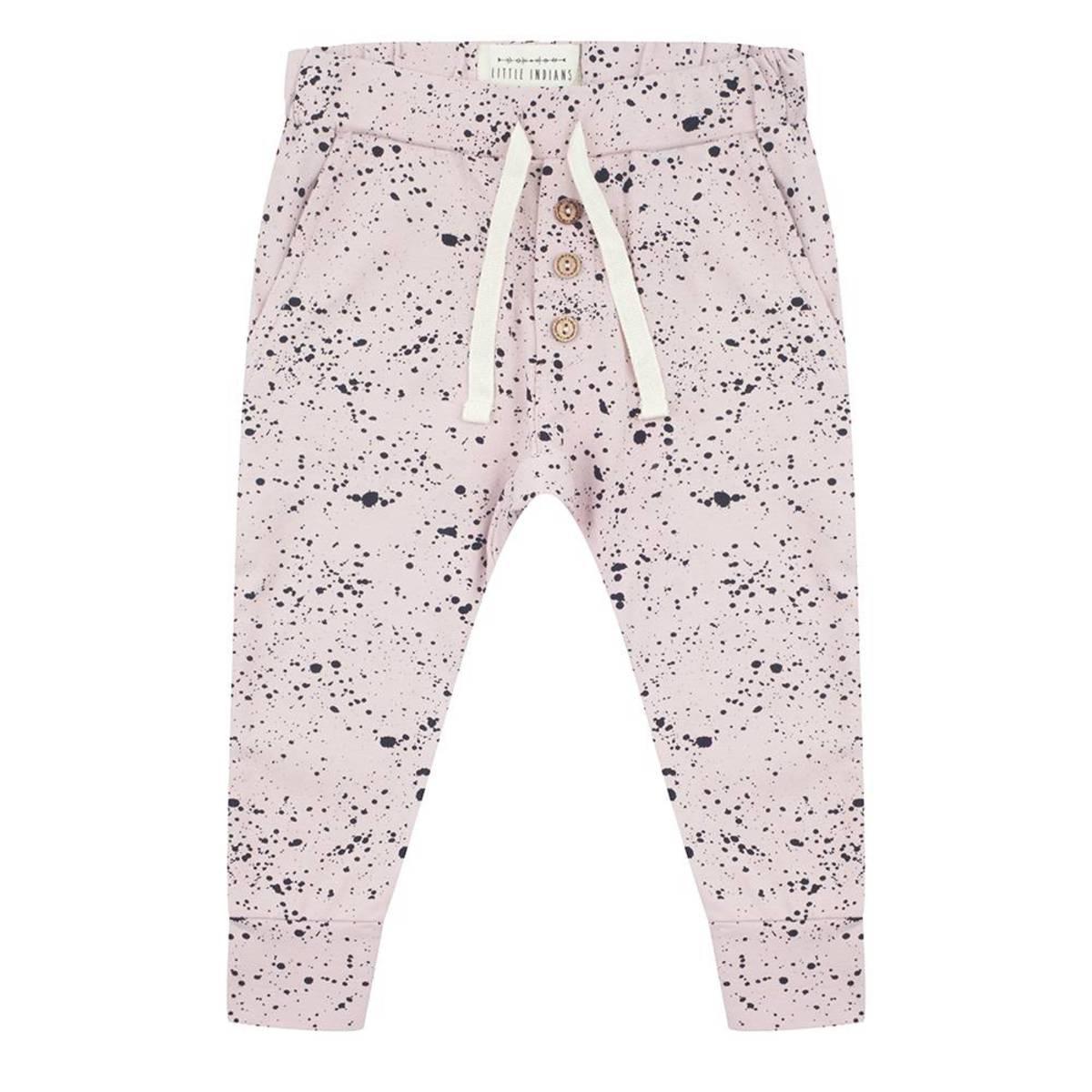 Little Indians Pantalon Splash Rose - 6/9 mois