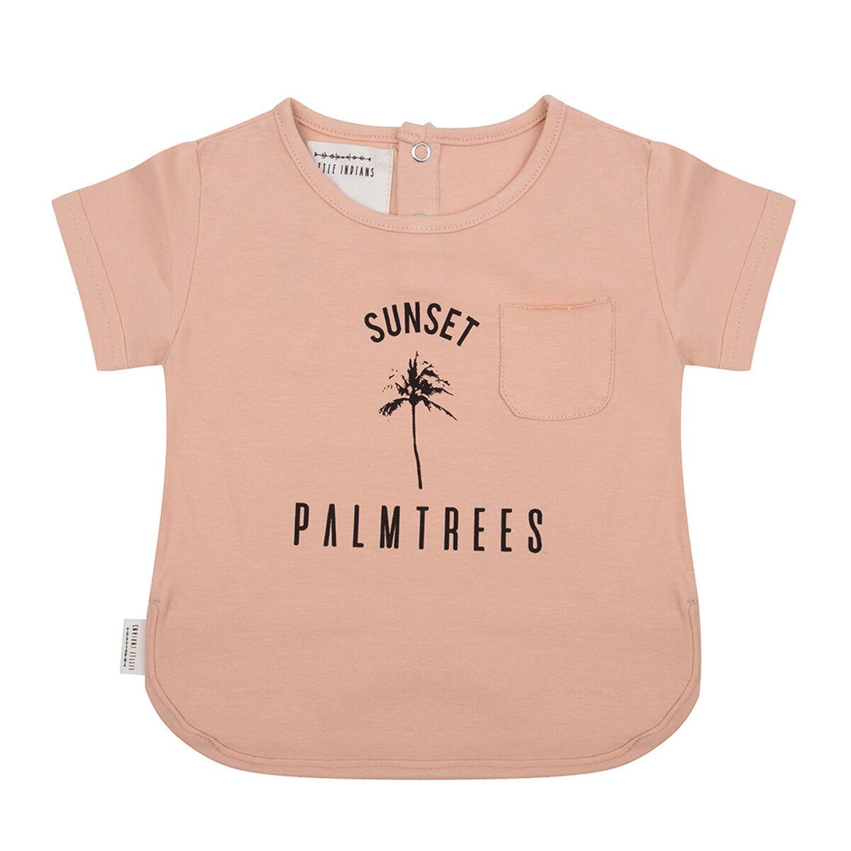 Little Indians T-shirt Palmier Corail - 3/4 Ans