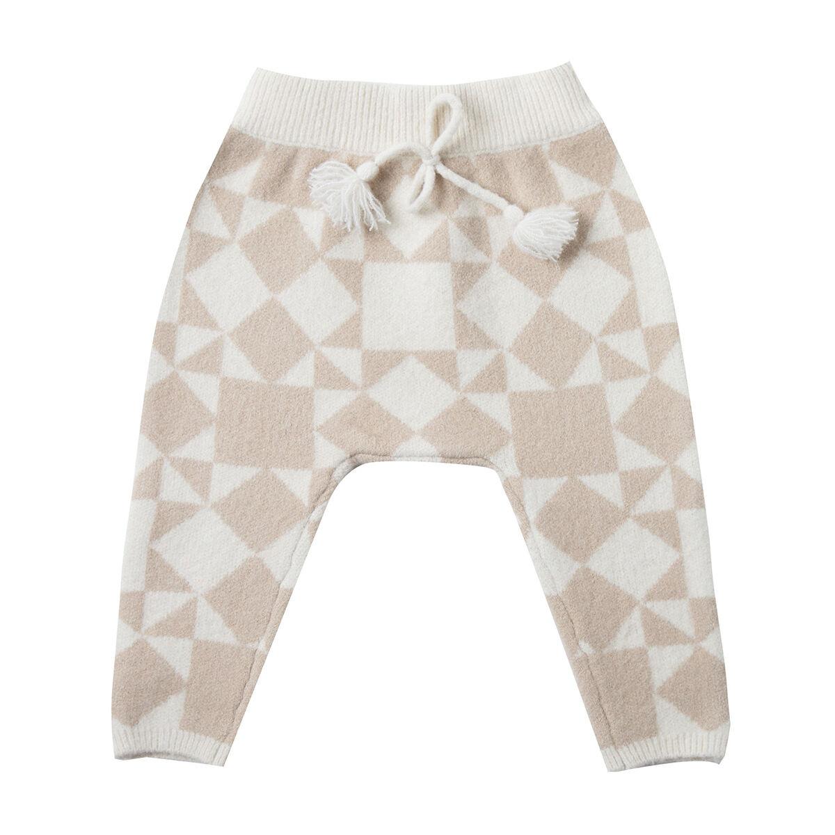 Rylee + Cru Pantalon Patchwork Jacquard Ivoire - 18/24 Mois
