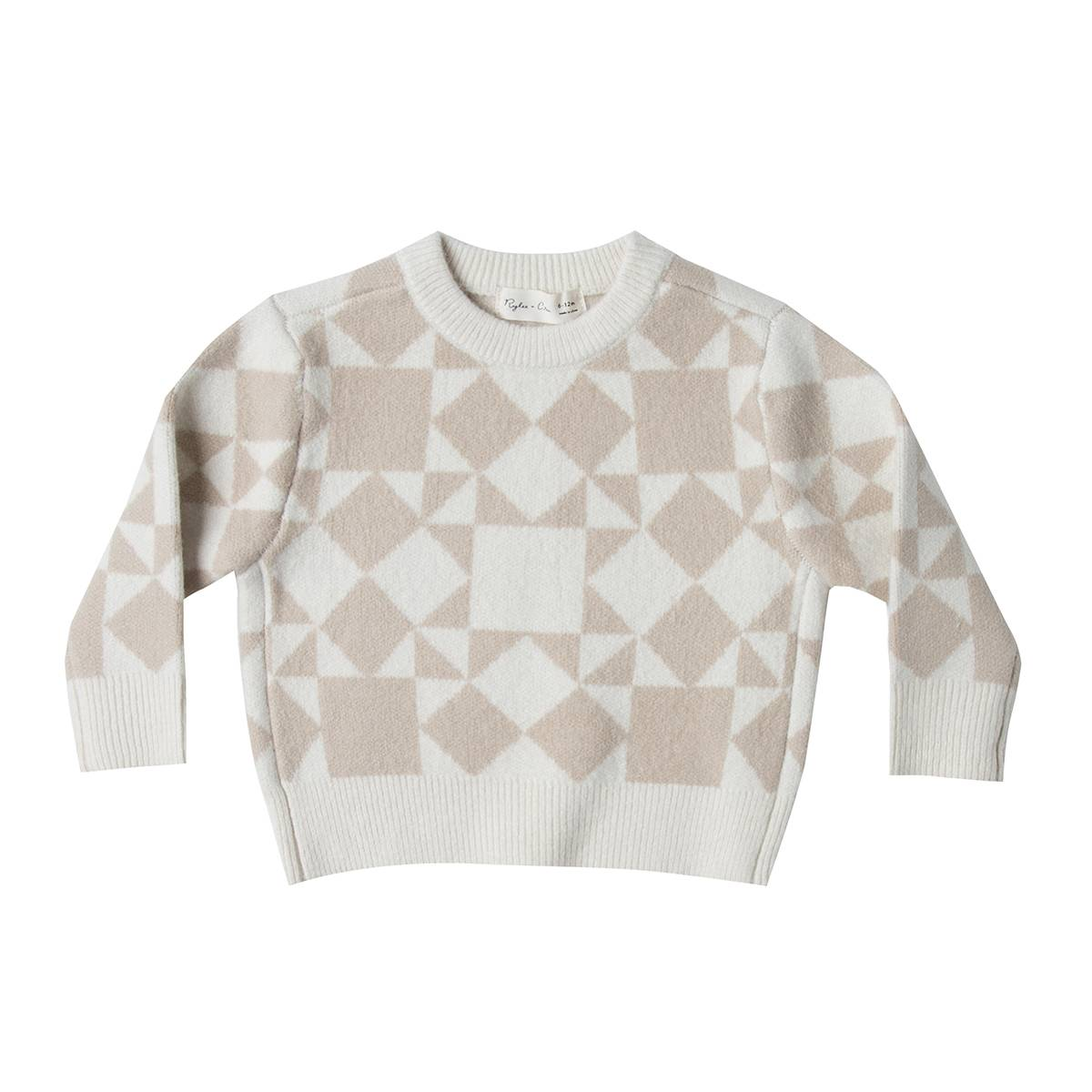 Rylee + Cru Pullover Jacquard Ivoire - 6/12 Mois