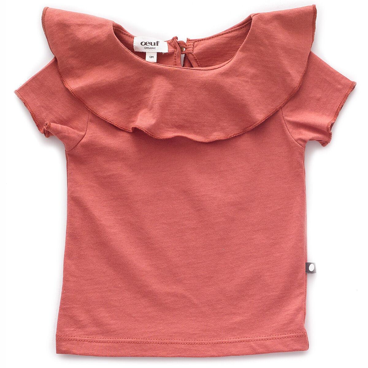 Oeuf NYC T-Shirt à Volant - Rust - 2 Ans