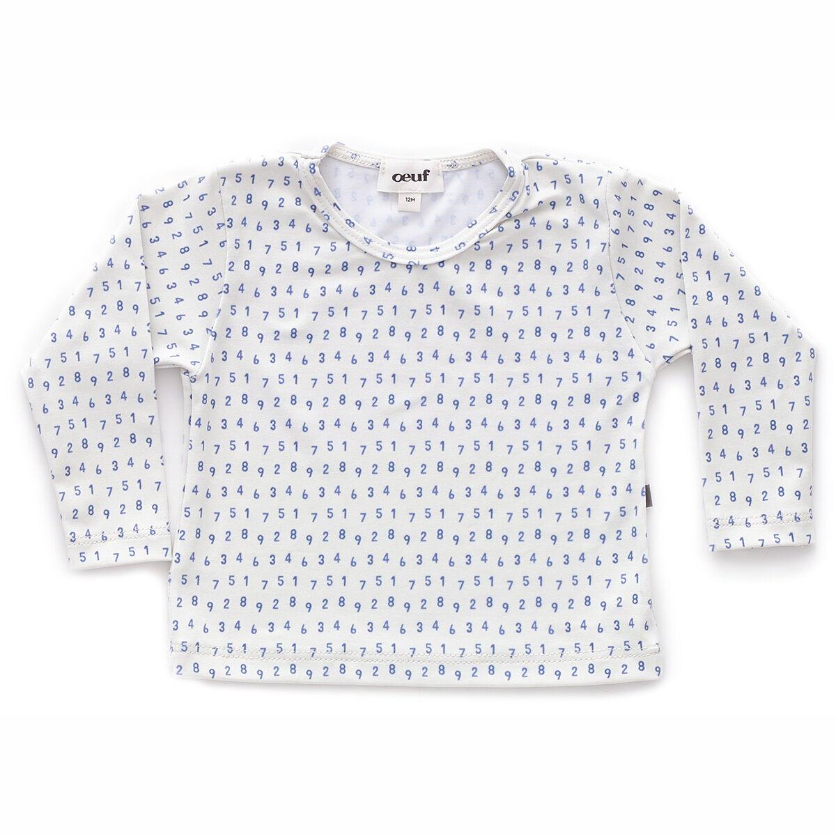 Oeuf NYC T-Shirt de Bain Numbers - Blanc - 6 Mois