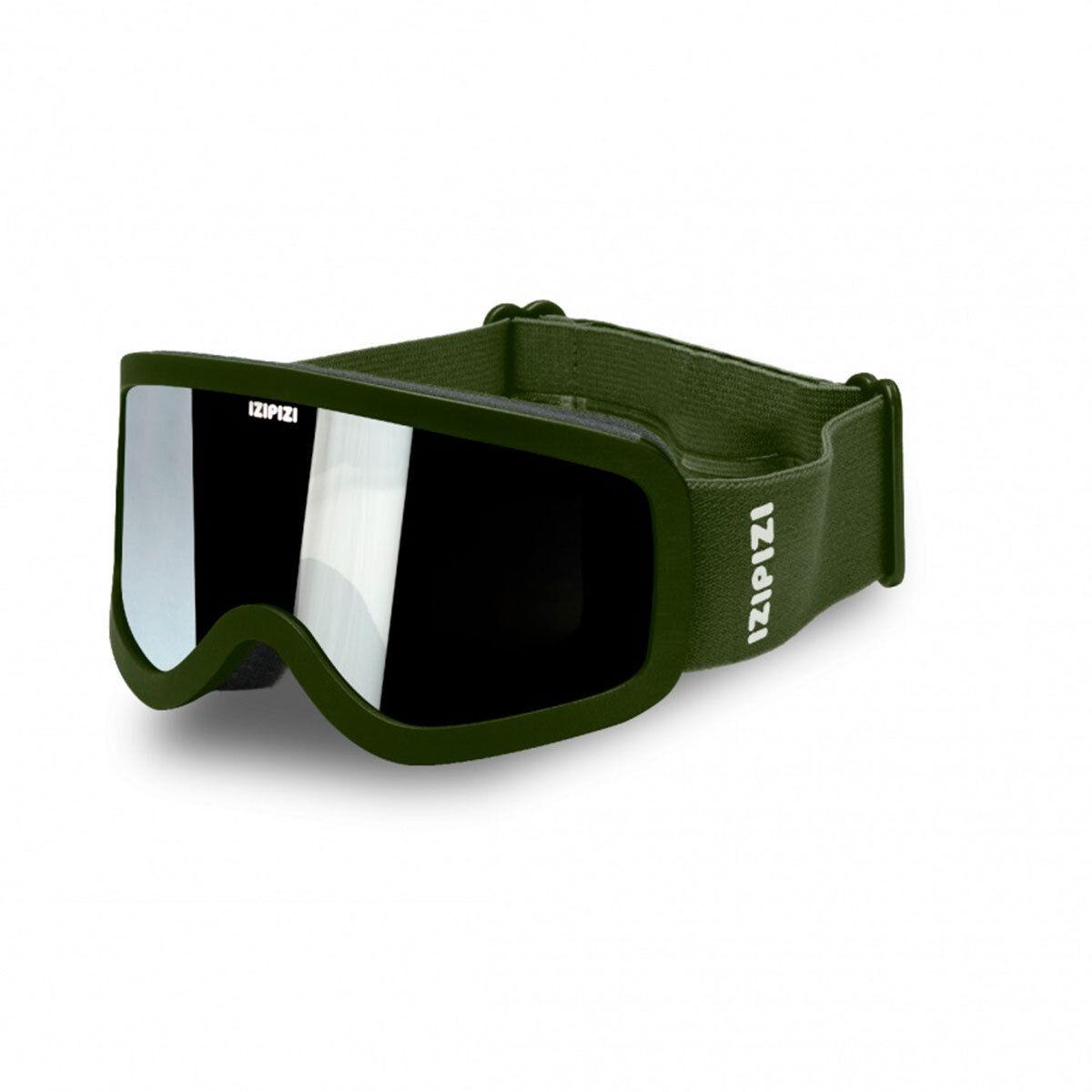 IZIPIZI Masque de Ski Kaki Green - 4/10 Ans