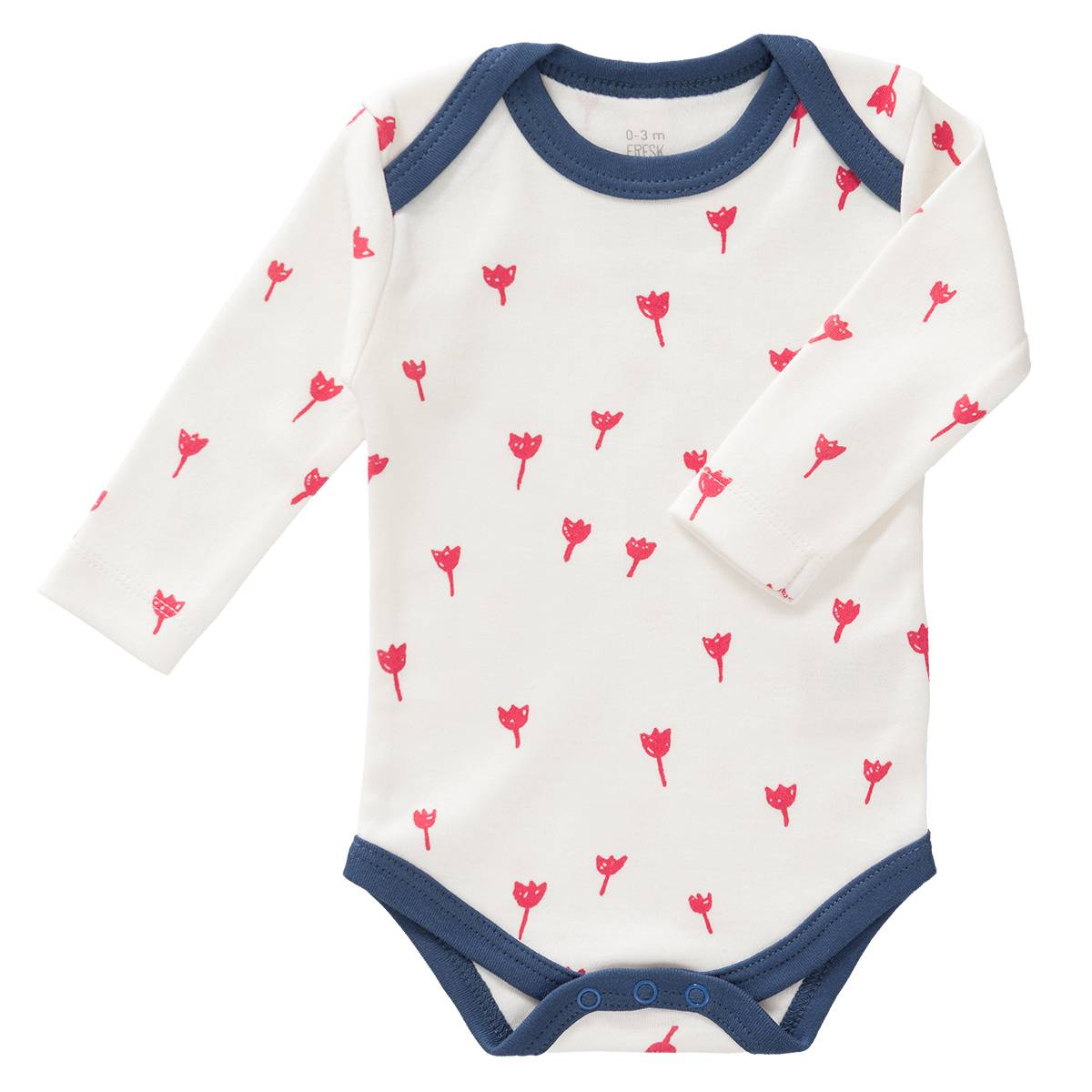 Fresk Body Manches Longues Tulipes Rouges - 3/6 Mois