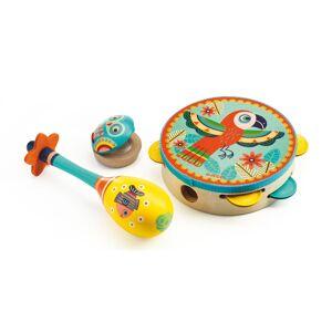 Djeco Set de 3 Instruments Tambourin Maracas Castagnettes
