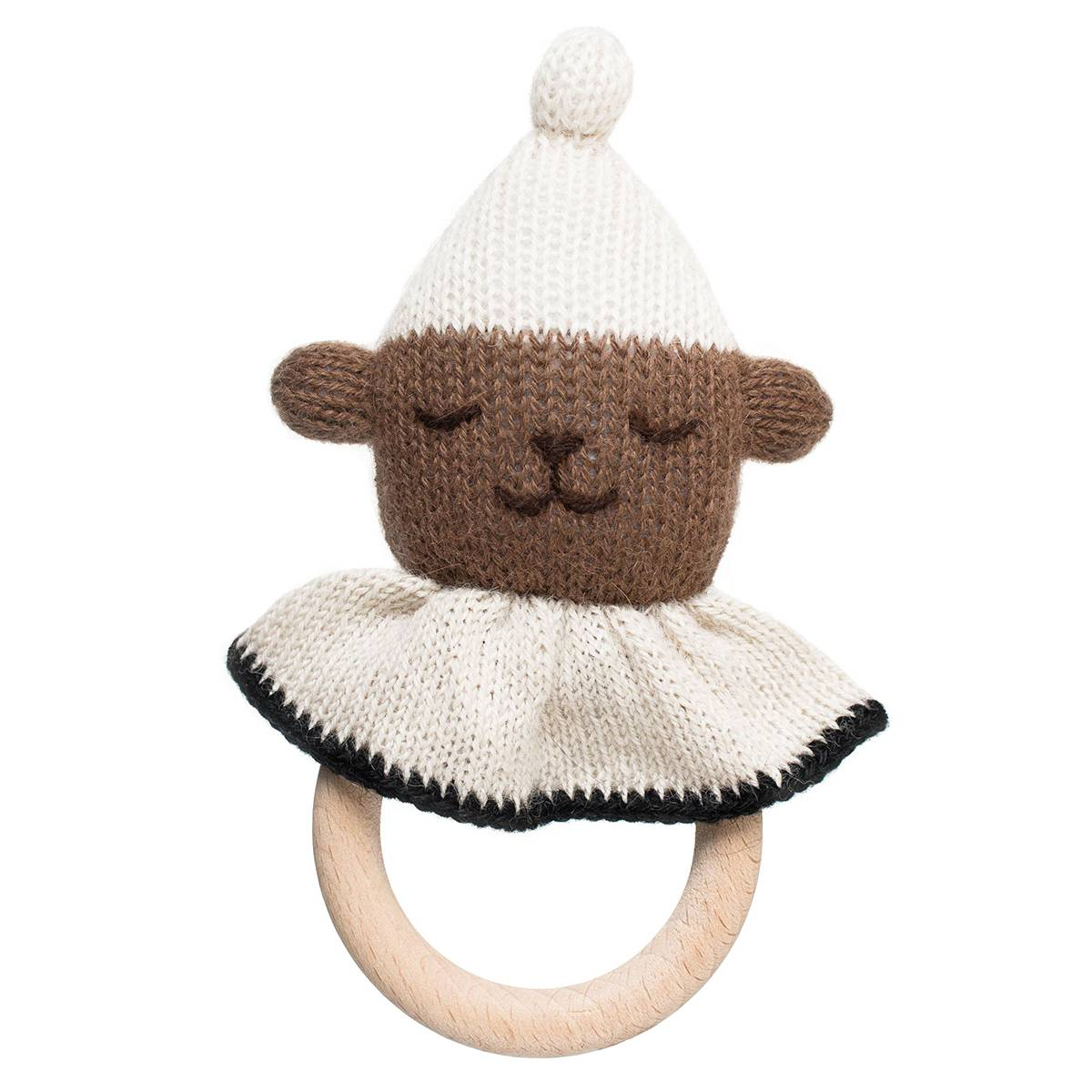 Main Sauvage Hochet de Dentition Teddy - Brun