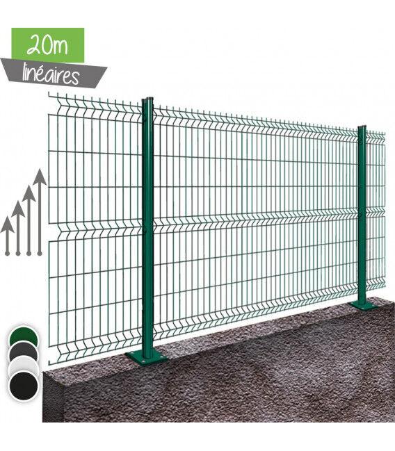 Kit 20ML de grillage rigide sur platines - Couleur - Vert 6005