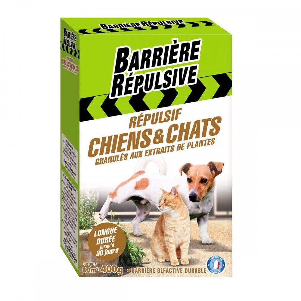Barrière Répulsive Répulsif chiens et chats granulés aux extraits de plantes 400g Barrière répulsive