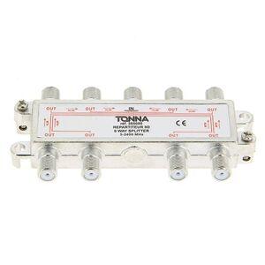 TONNA Répartiteur 8 sorties à connecteurs F - 365080 - Tonna