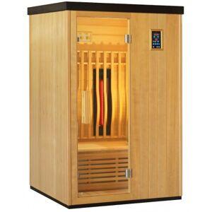 SNÖ Sauna infrarouge chauffages carbone et full spectrum Vertical Black 2100W 2 places - SNÖ