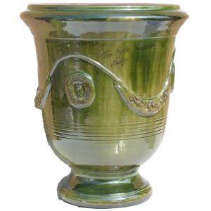 Terre Figuière Vase d'Anduze terre cuite émaillée Vert Terre Figuière
