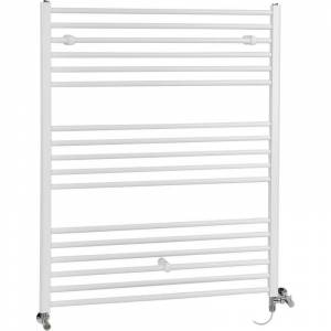 Hudson Reed Ive - Sèche-Serviettes Design Mixte Moderne Plat - Blanc