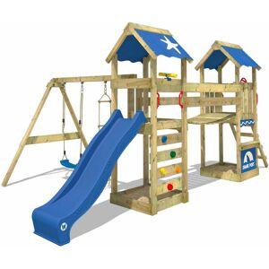 WICKEY Aire de jeux Portique bois SunFlyer avec balançoire et toboggan