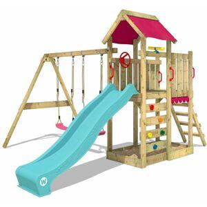 WICKEY Aire de jeux Portique bois MultiFlyer avec balançoire et