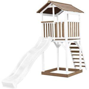 AXI Beach Tower Aire de Jeux avec Toboggan en blanc & Bac à Sable   Grande